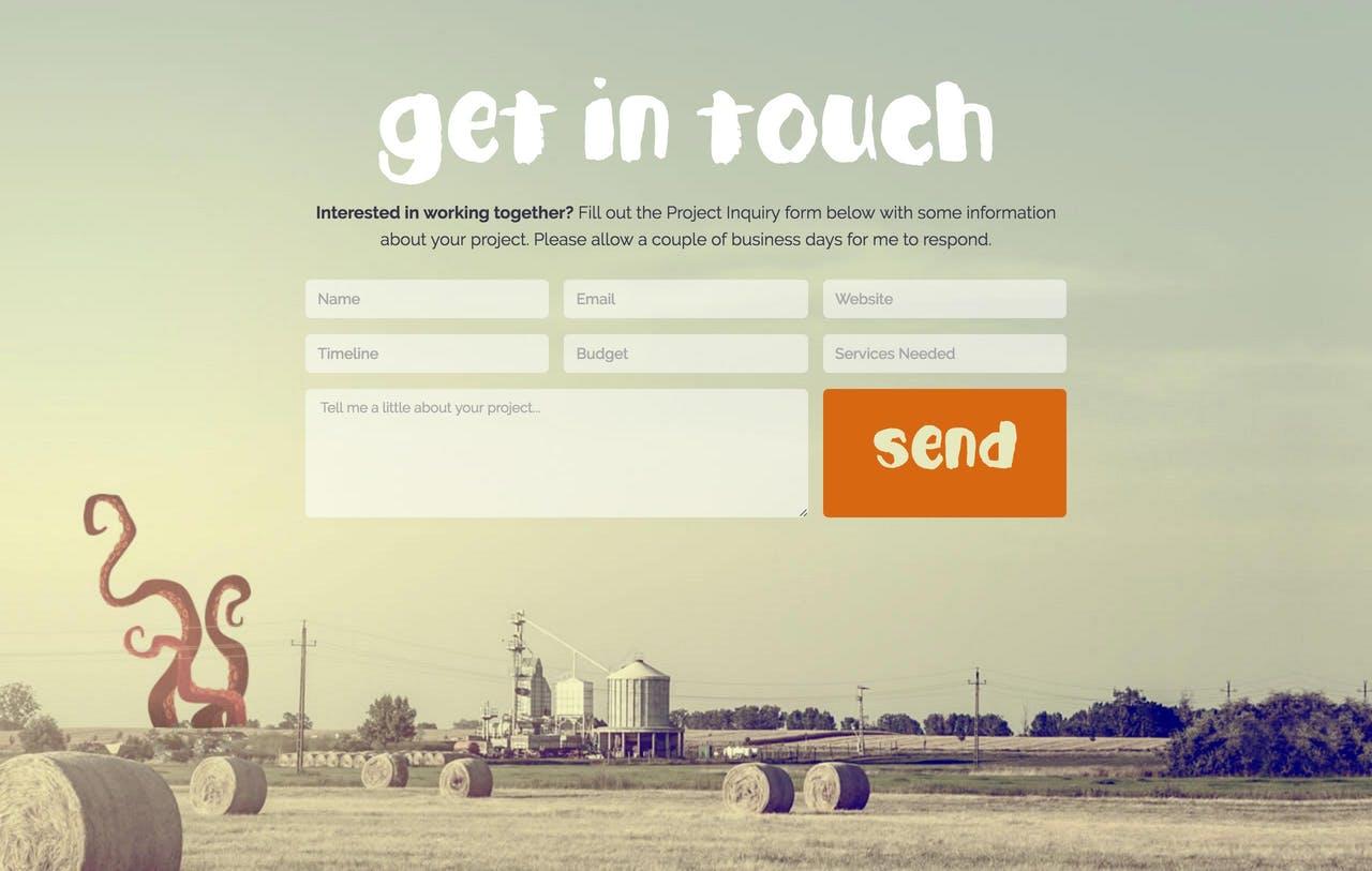 Contact Form - Denise Chandler Screenshot