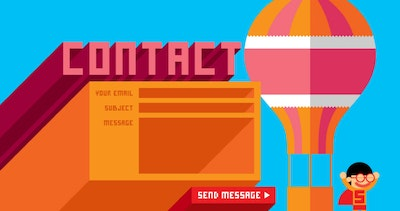 15 examples of Slick Contact Forms in websites