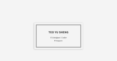 Teo Yu Sheng Thumbnail Preview