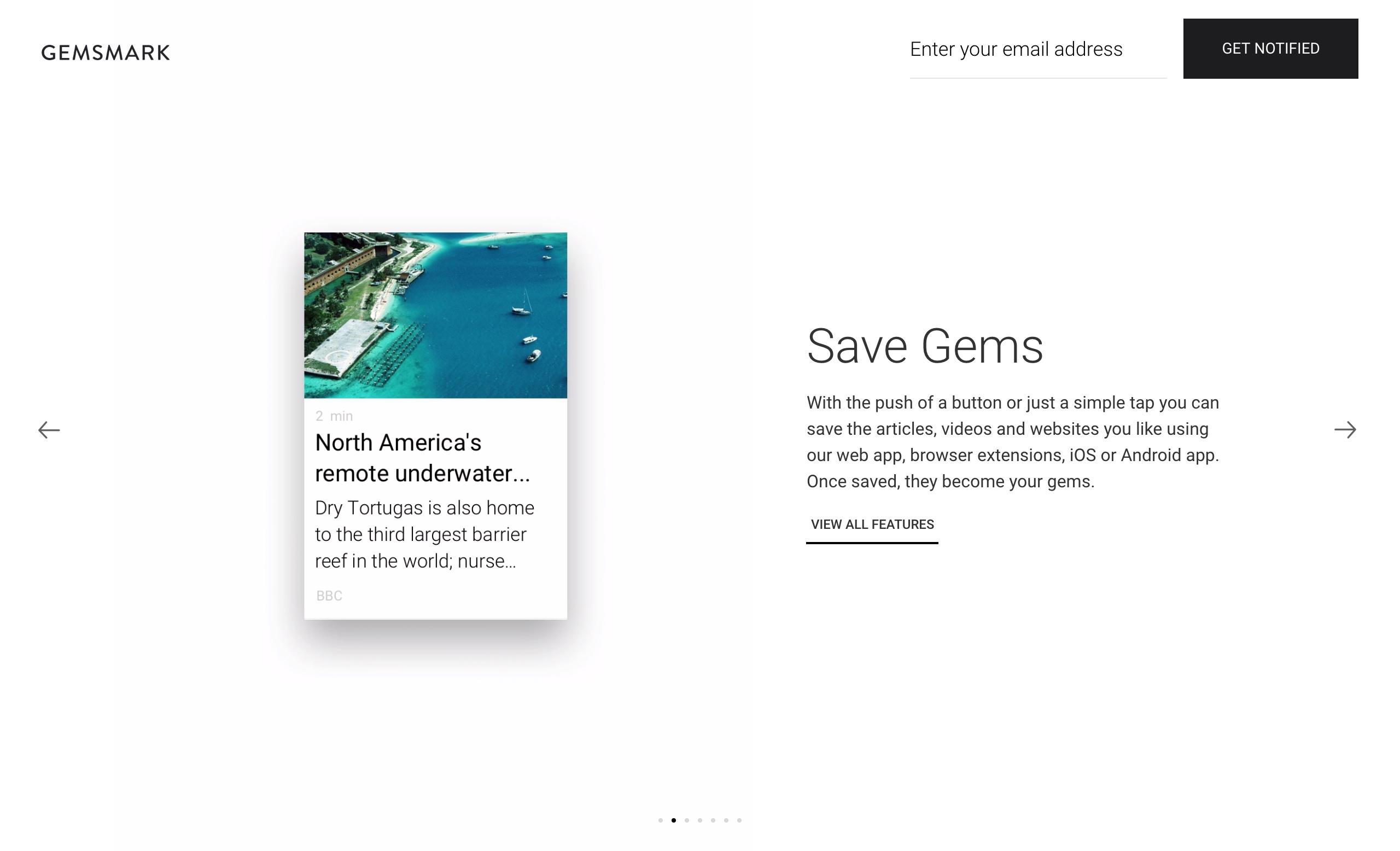 Gemsmark Website Screenshot