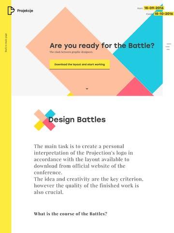 Projekcje – The Graphic Design Battles Thumbnail Preview