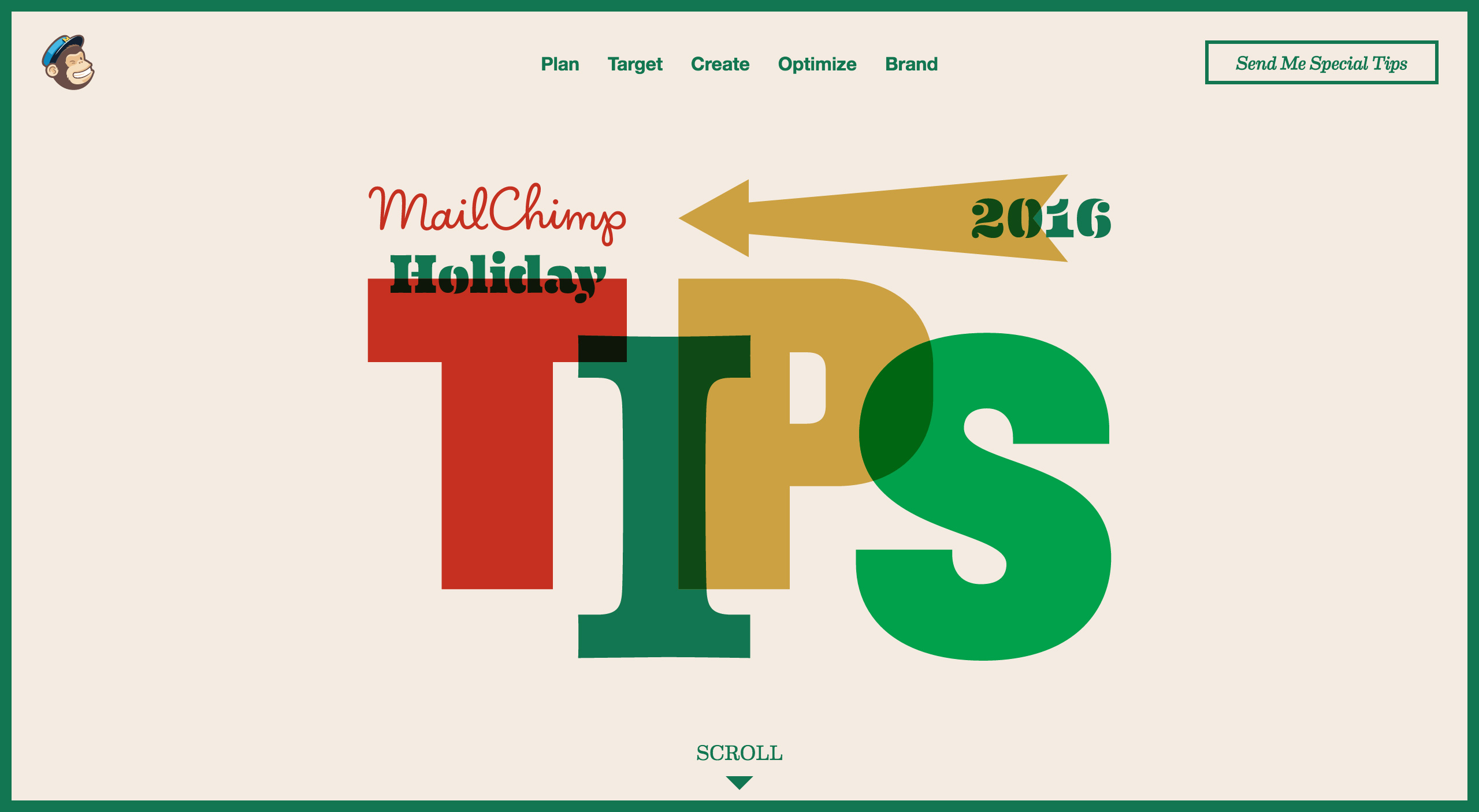 MailChimp Holiday Tips 2016 Website Screenshot