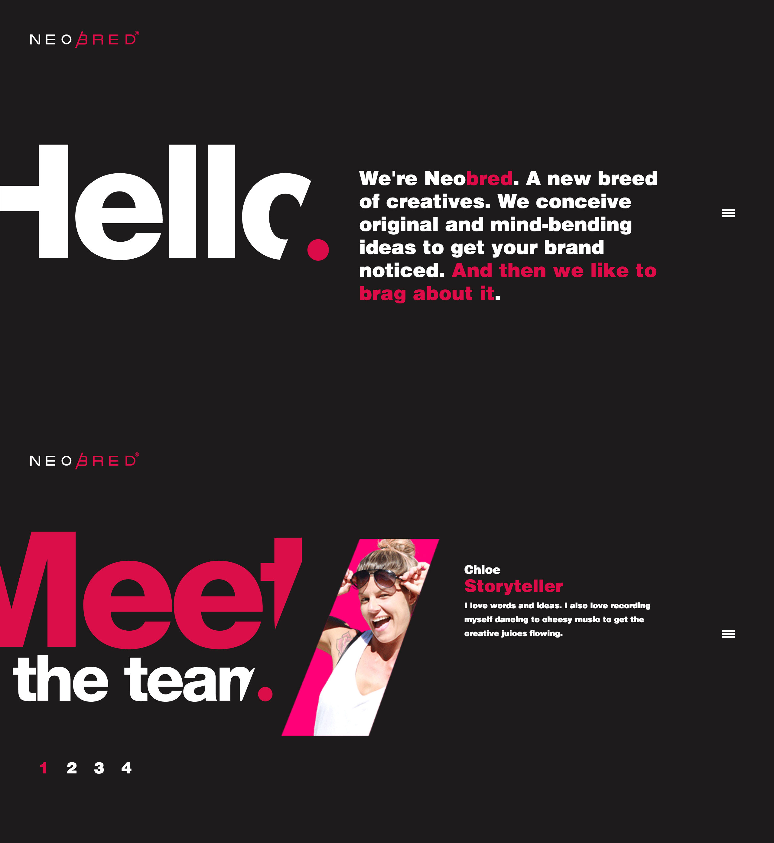 Neobred Website Screenshot