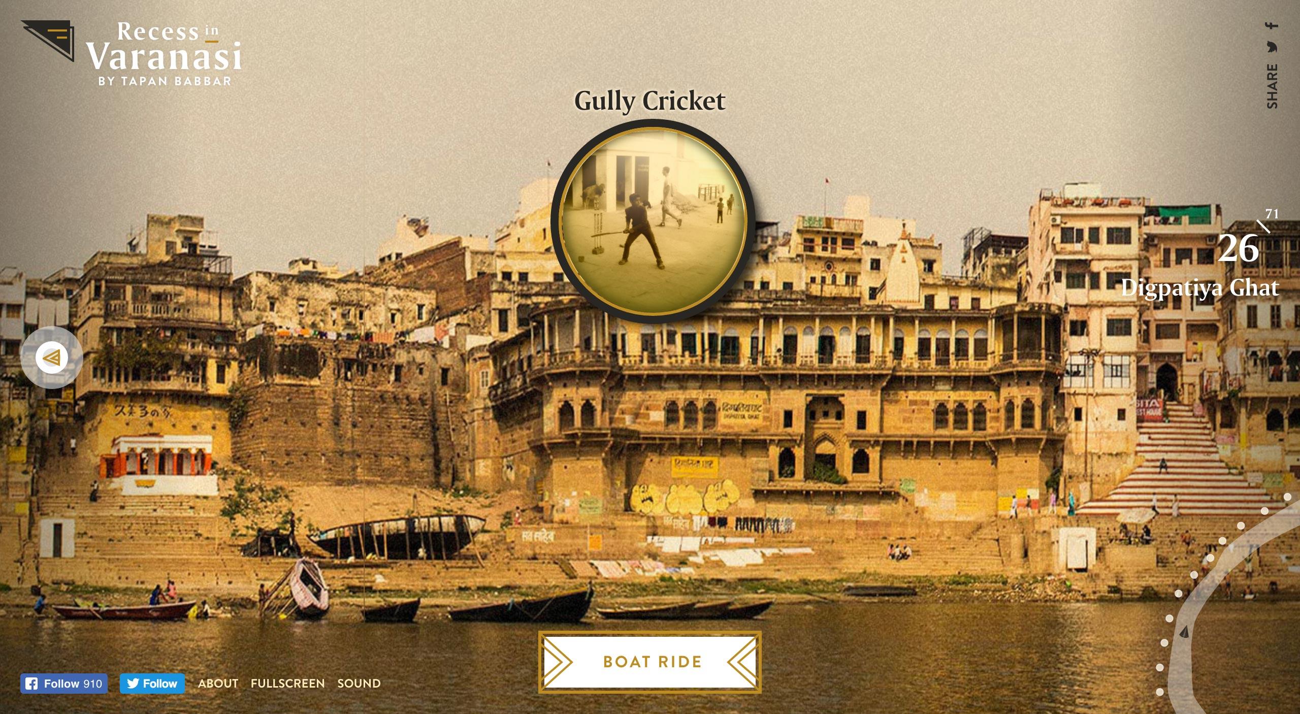 Recess in Varanasi Website Screenshot
