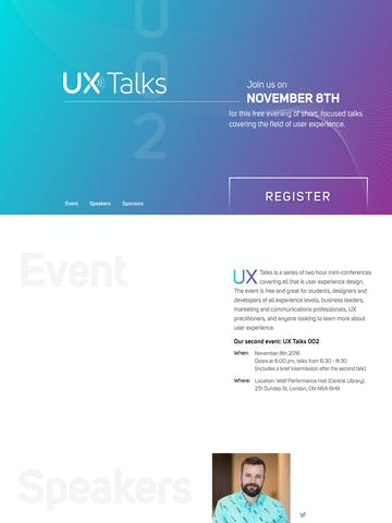 UX Talks 002 Thumbnail Preview