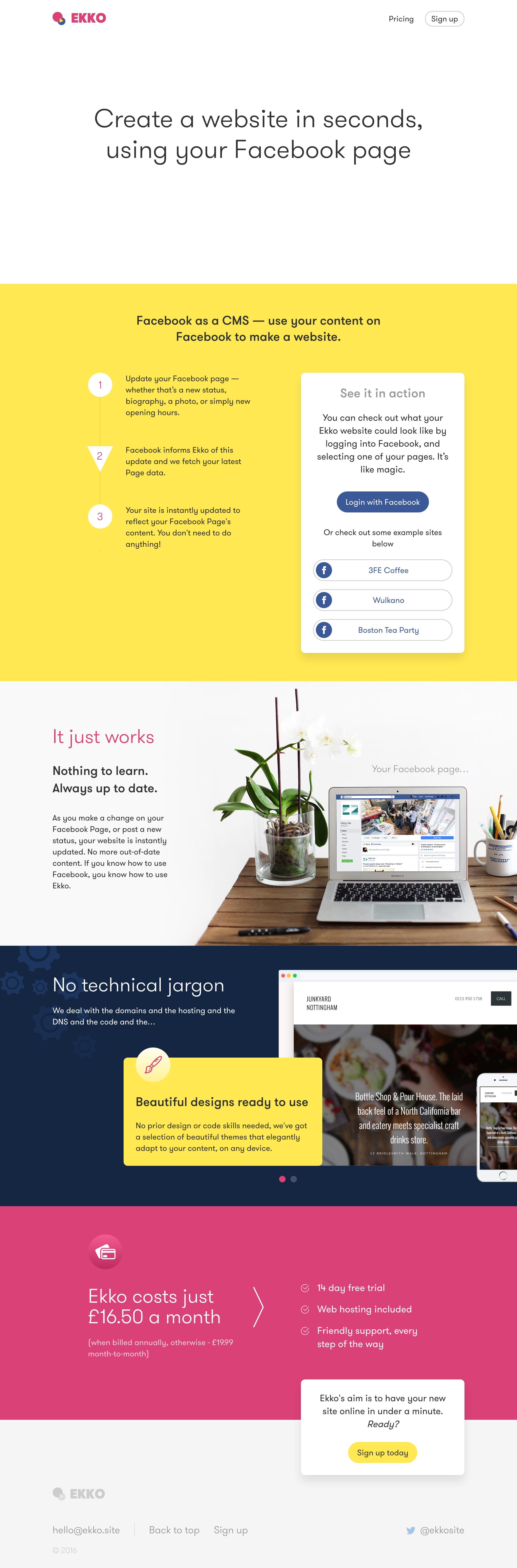 Ekko Website Screenshot