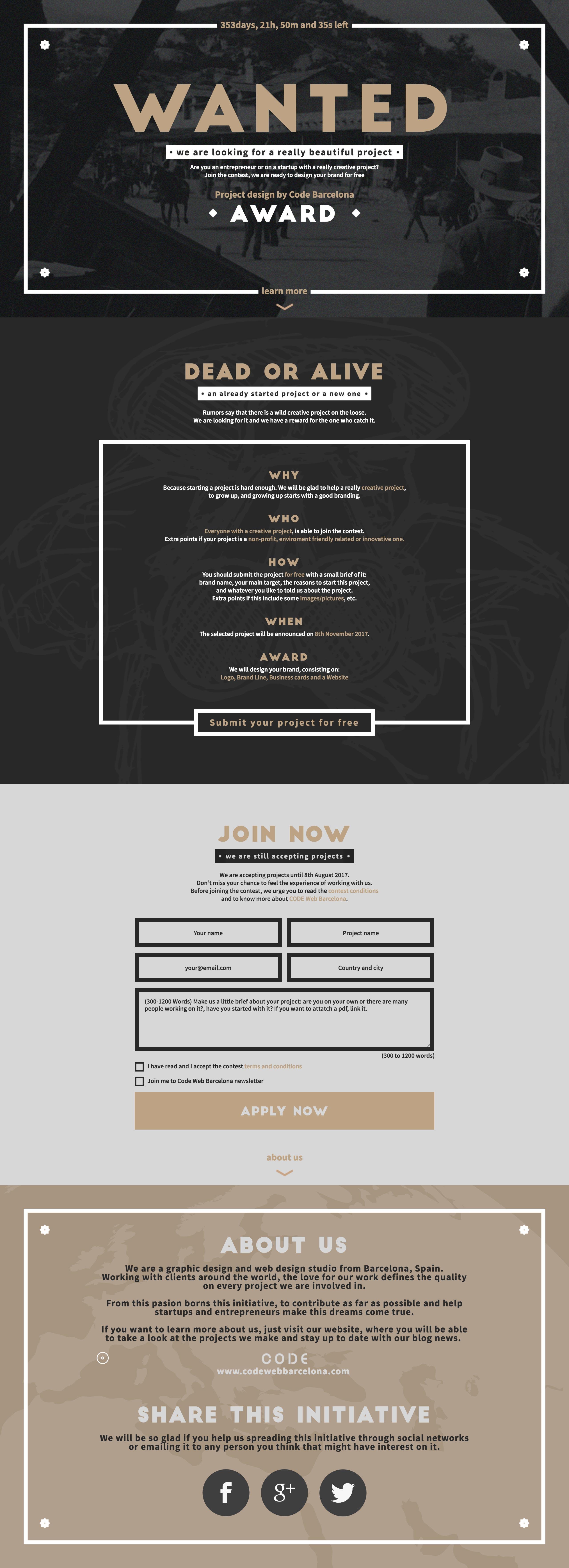 Wanted Website Screenshot