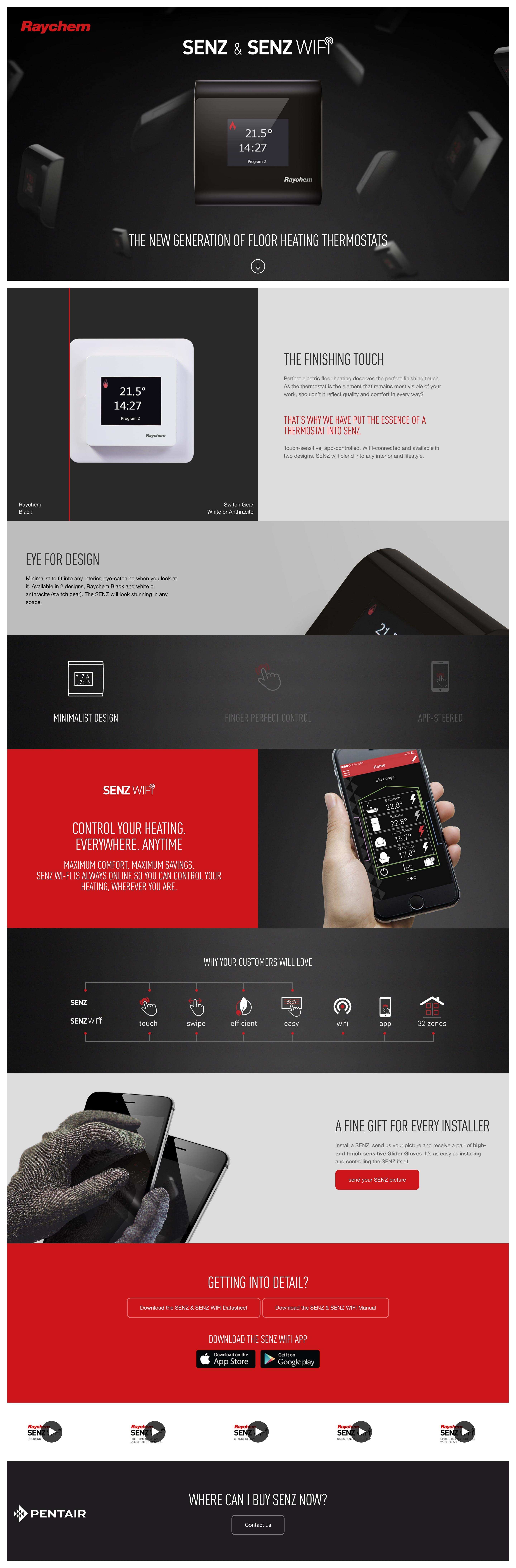 Senz & Senz Wifi Website Screenshot