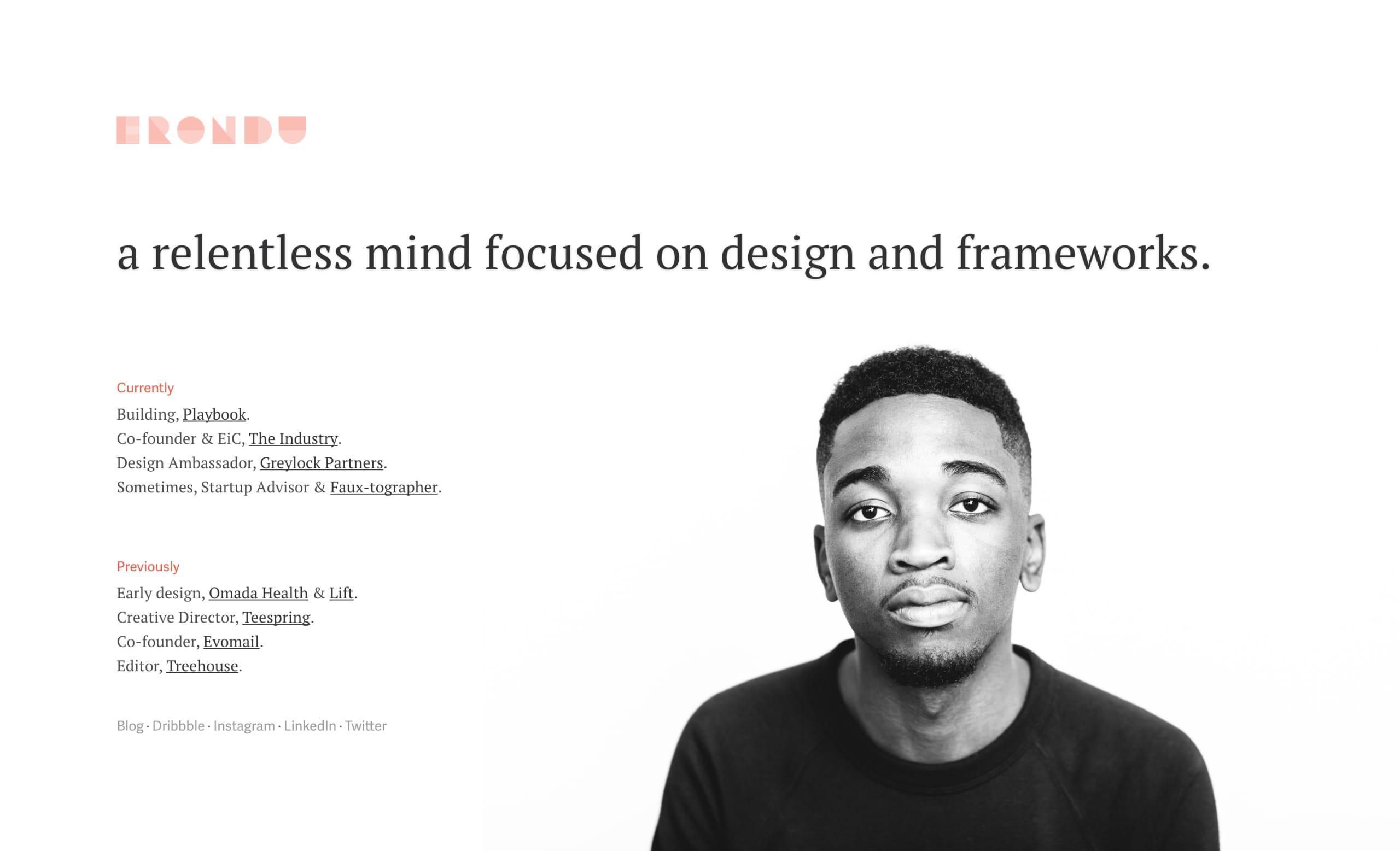 Jared Erondu Website Screenshot