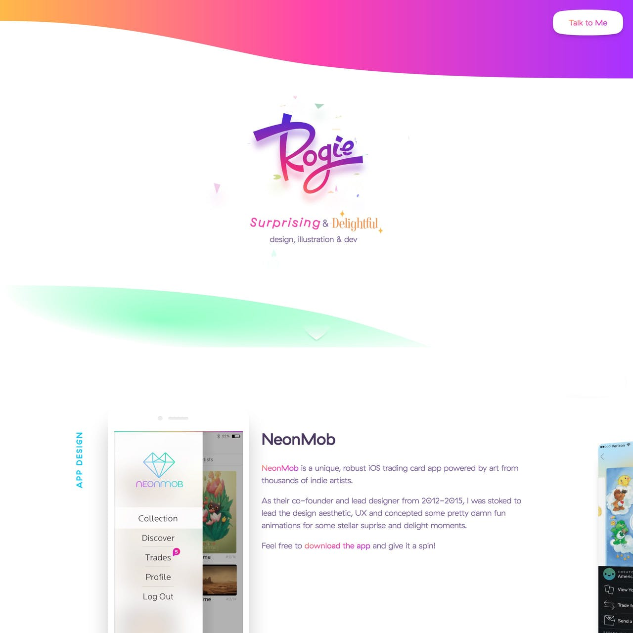 Rogie Website Screenshot