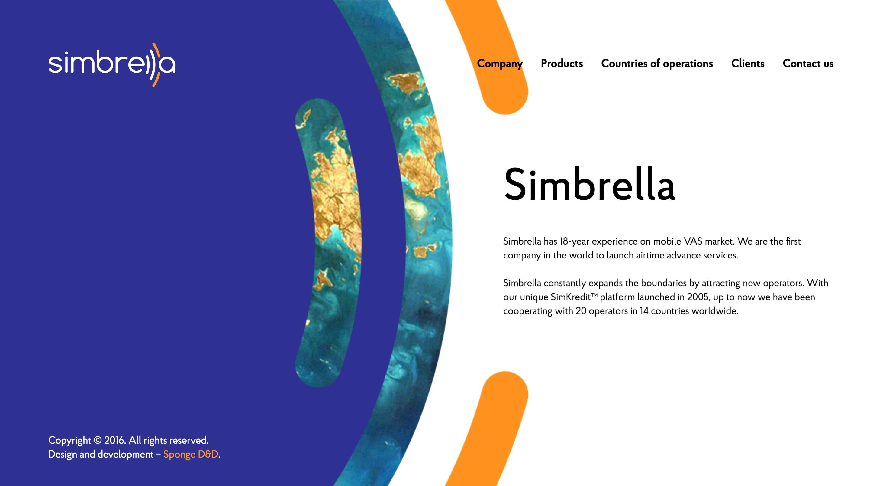 Simbrella Website Screenshot