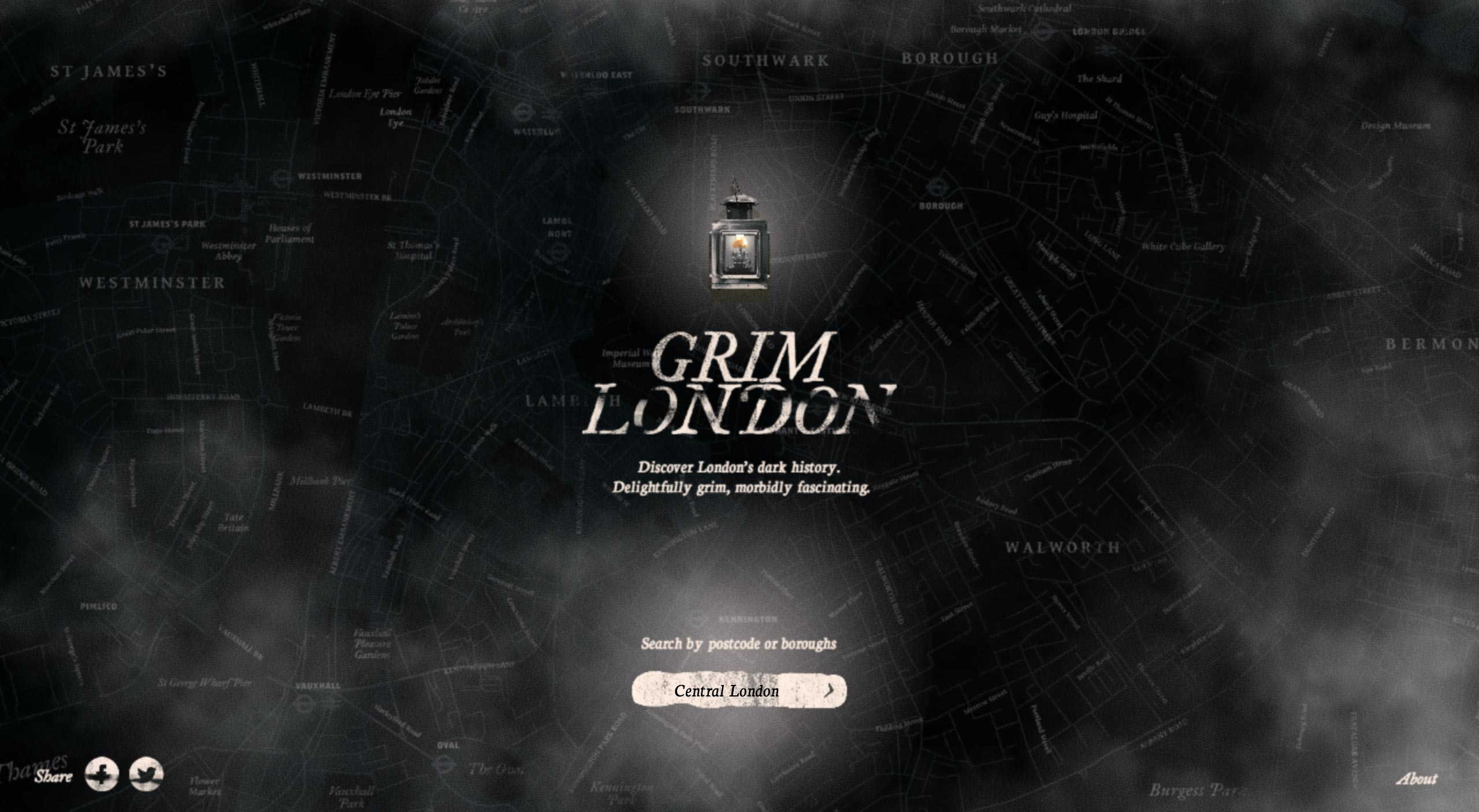 Grim London Website Screenshot