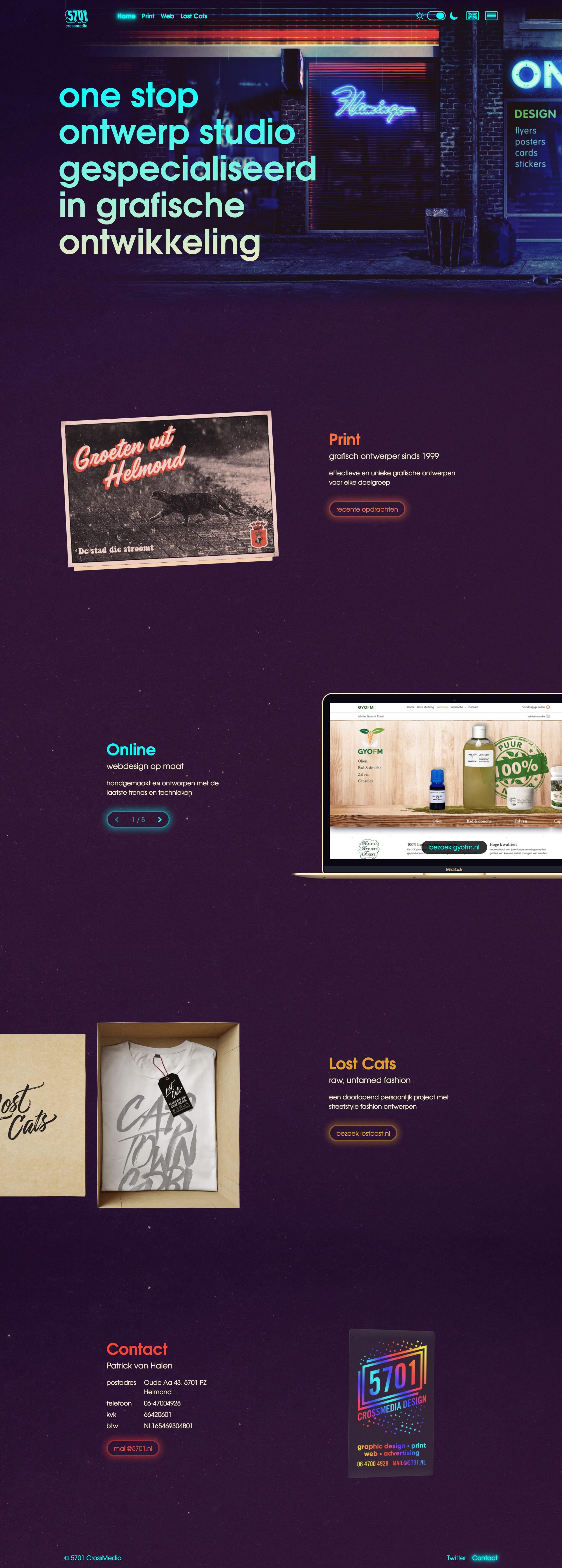 5701 CrossMedia Website Screenshot