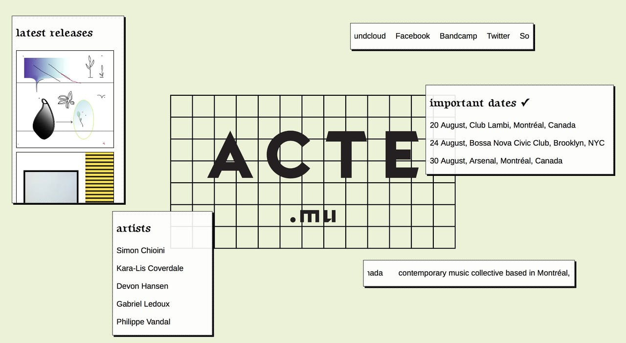 Acte Website Screenshot