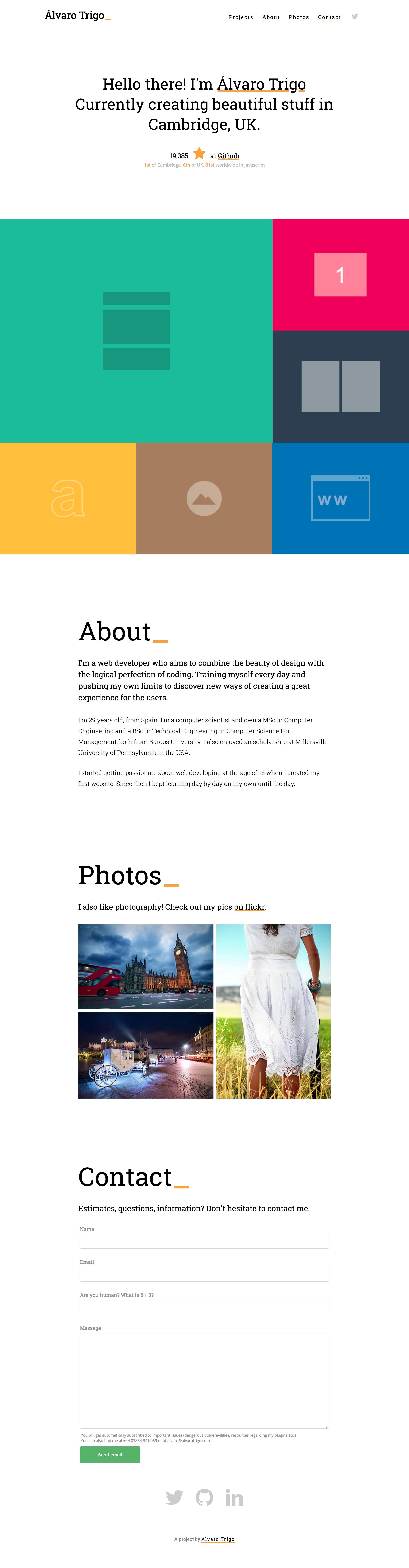 Alvaro Trigo Website Screenshot