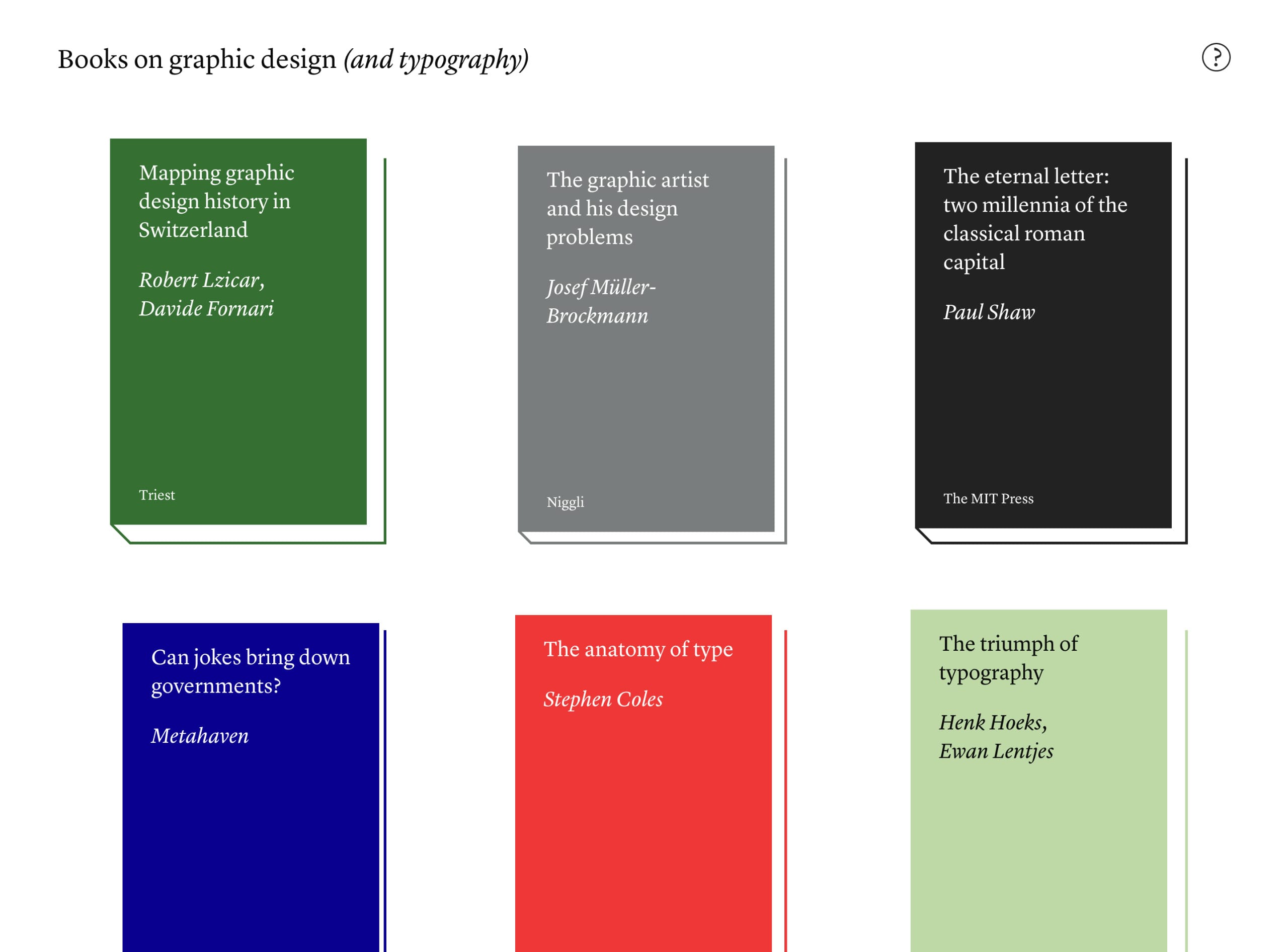Books on graphic design Website Screenshot