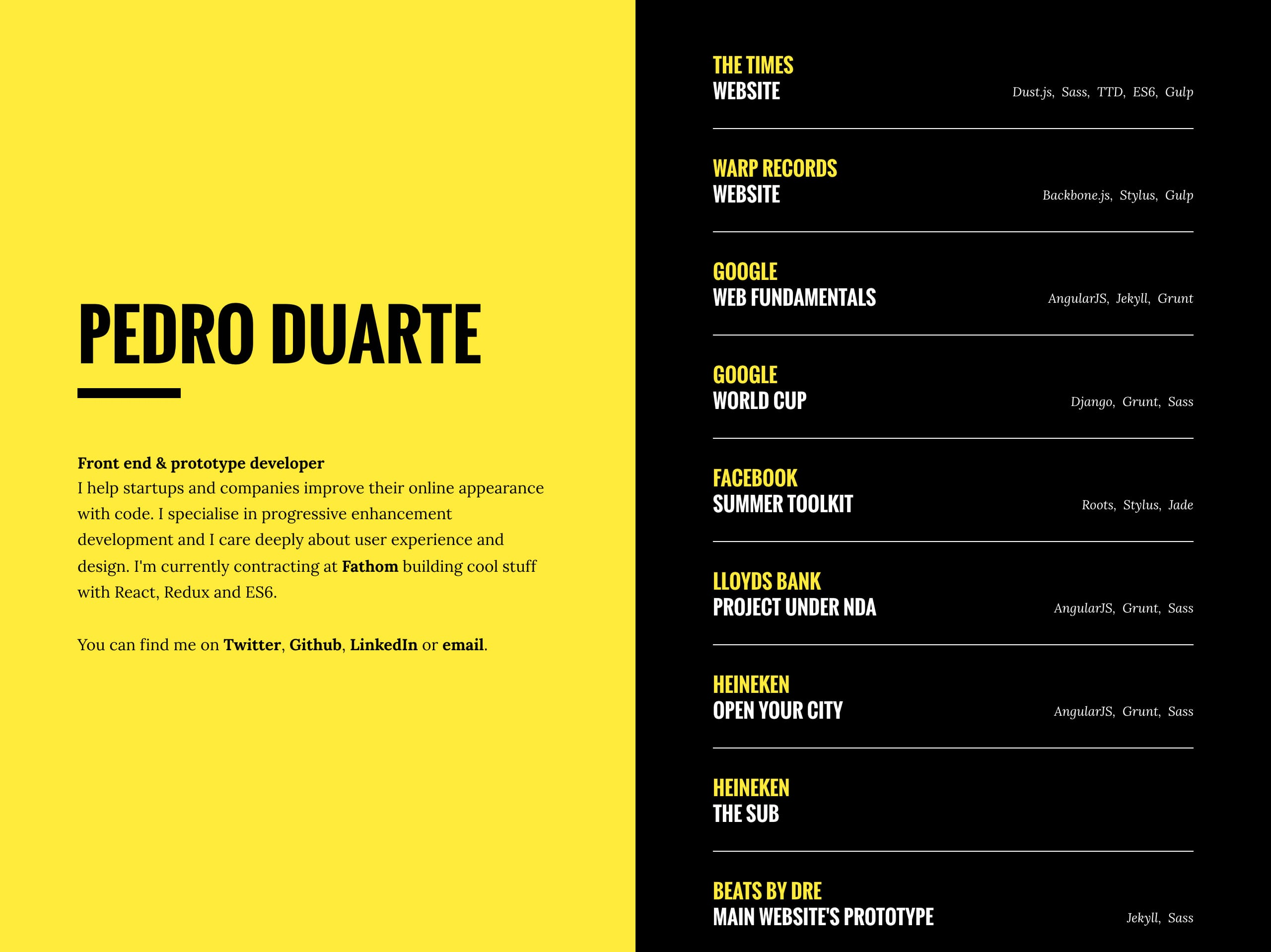 Pedro Duarte Website Screenshot