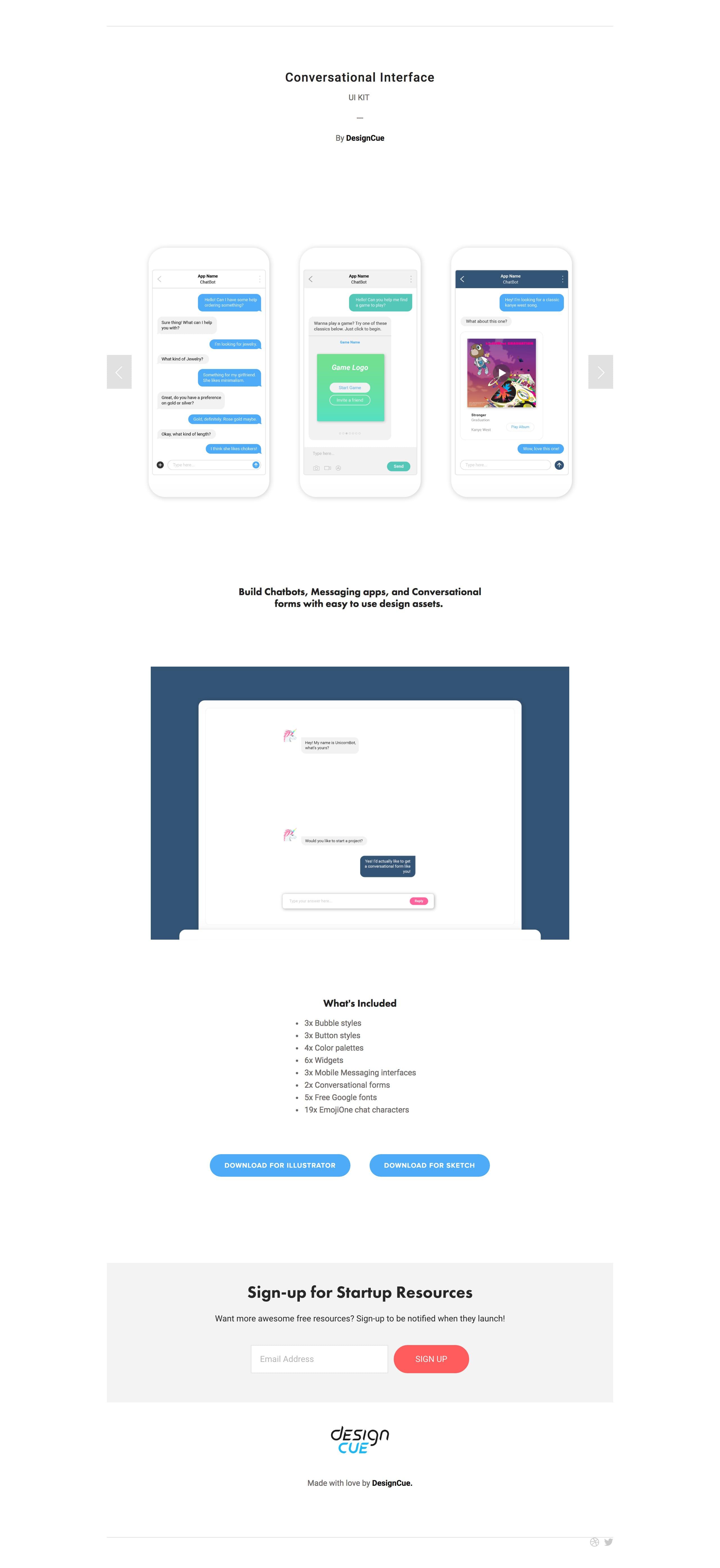 Conversational Interface Website Screenshot