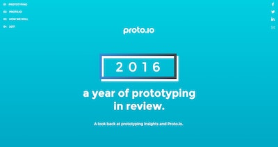 Proto.io 2016 Year in Review Thumbnail Preview