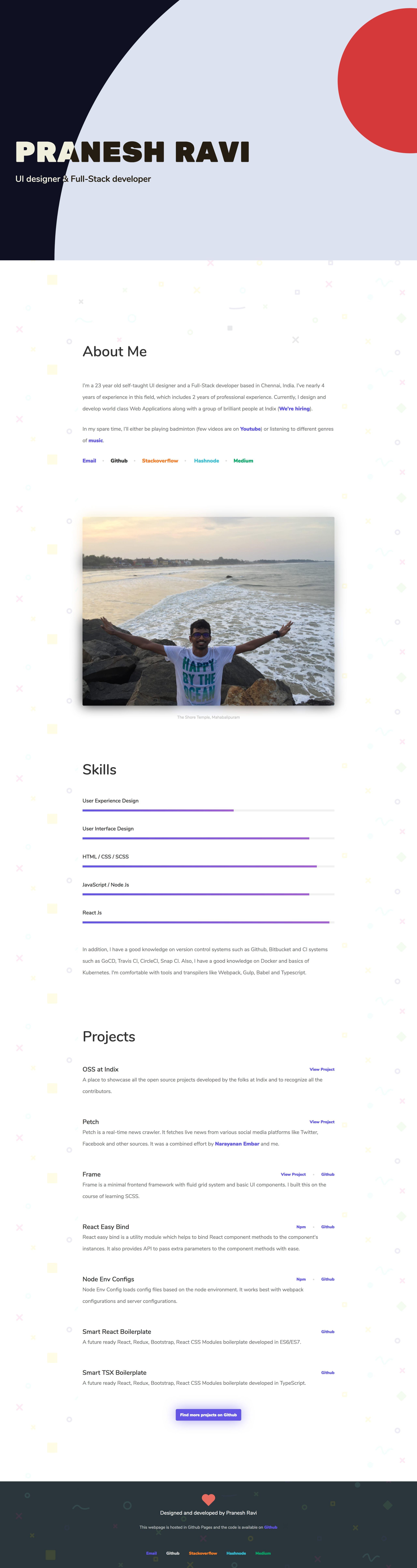 Pranesh Ravi Website Screenshot