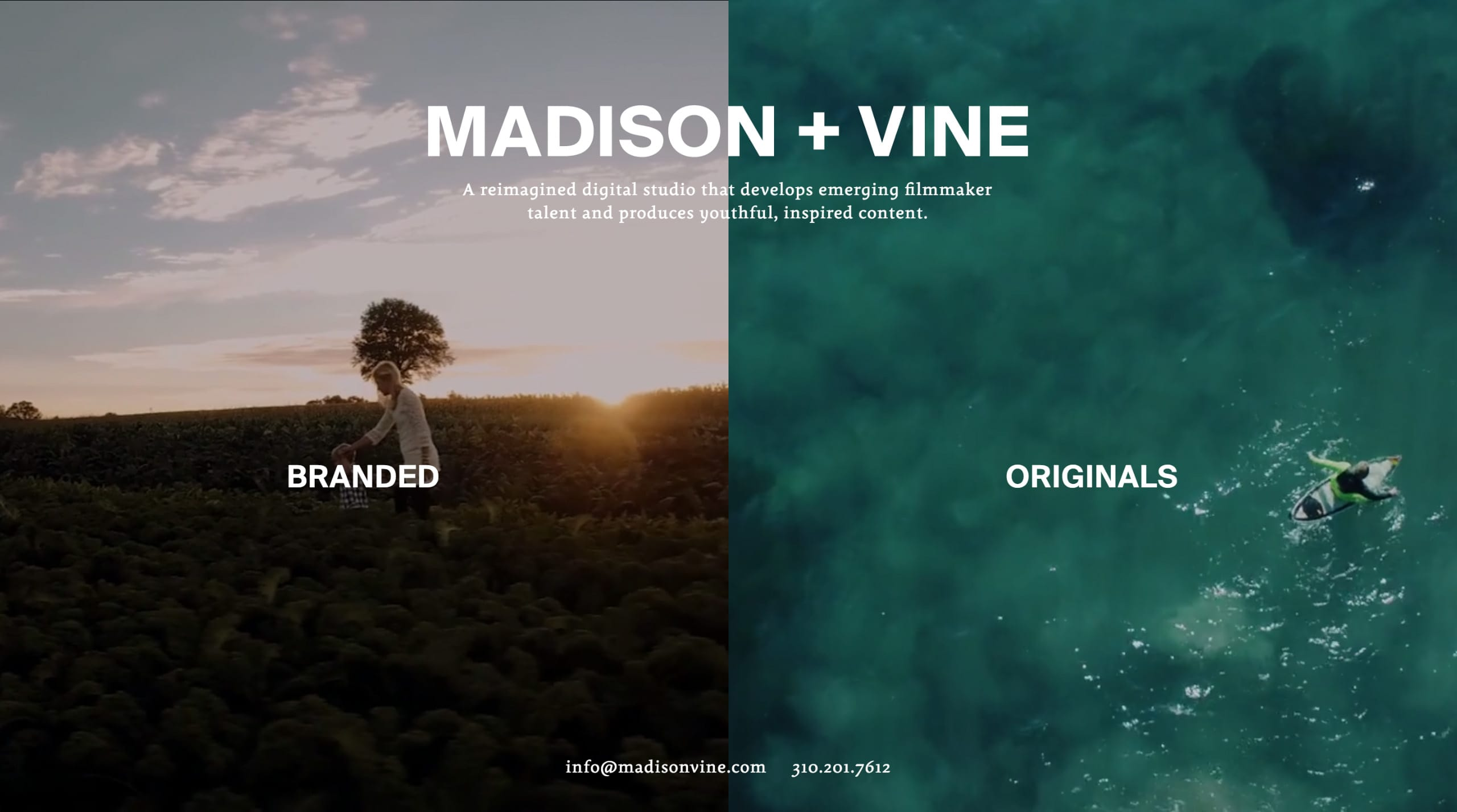 Madison + Vine Website Screenshot