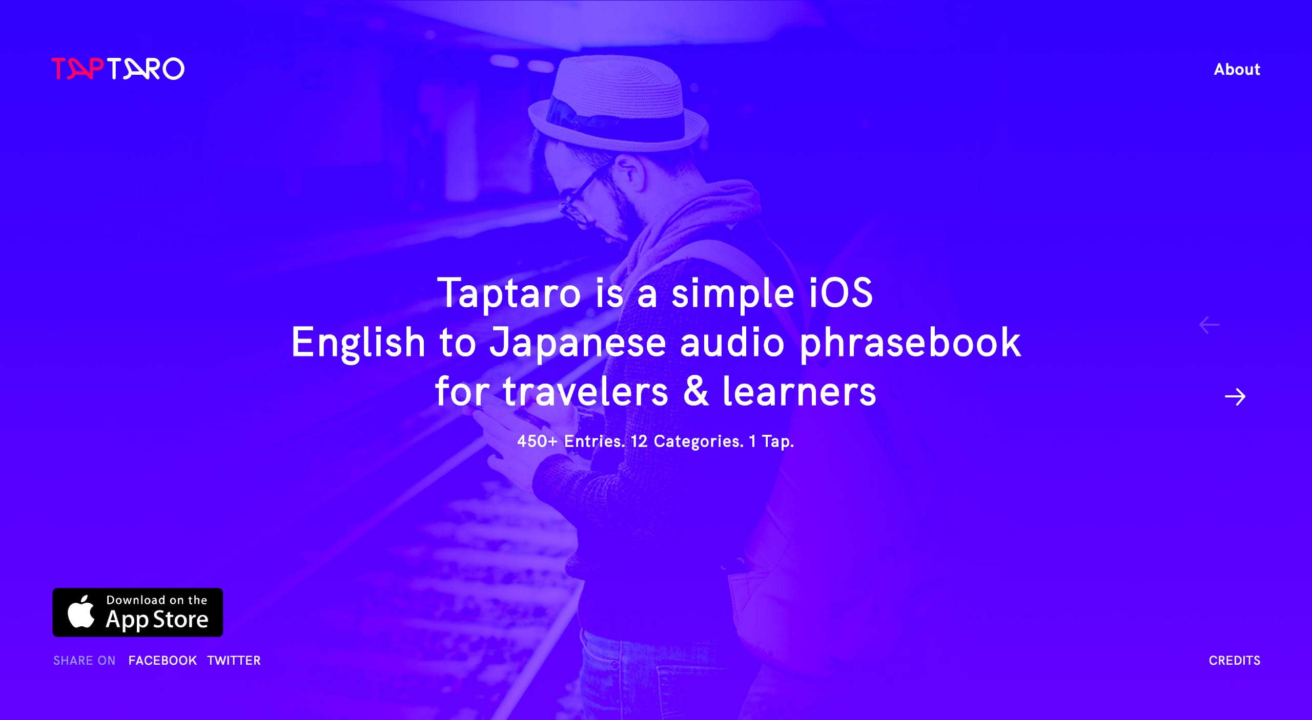 Taptaro Website Screenshot