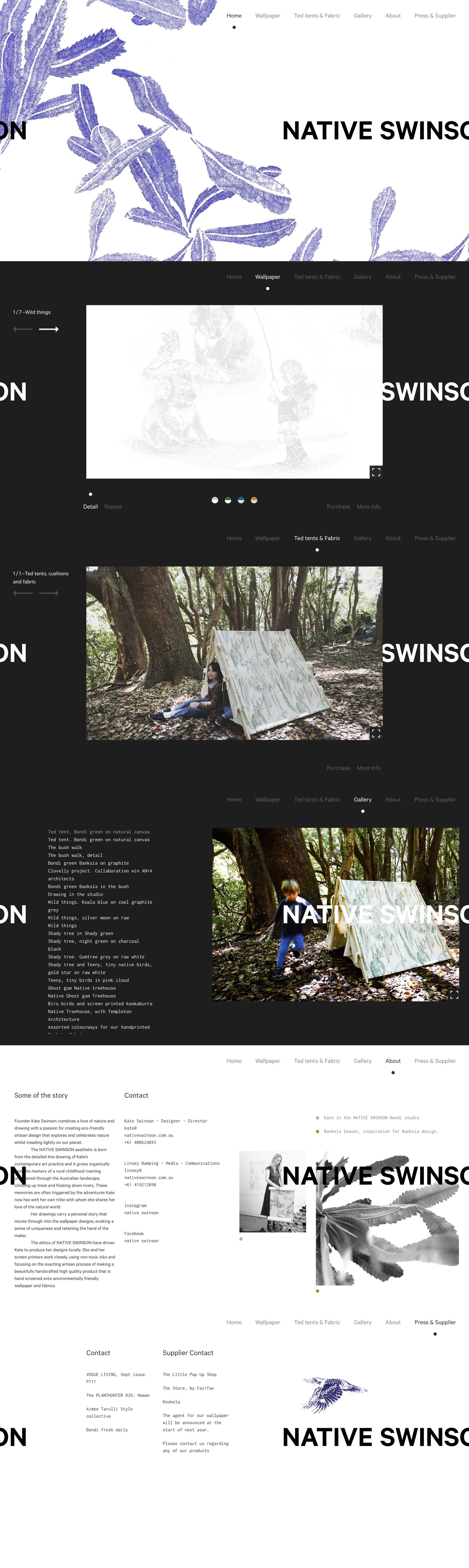Native Swinson Website Screenshot