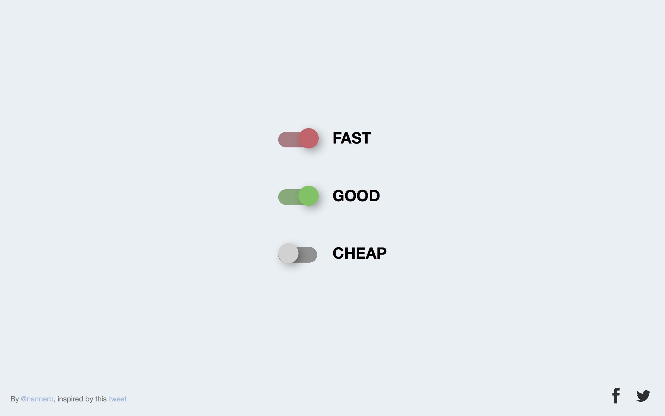 Fast Good Cheap Website Screenshot