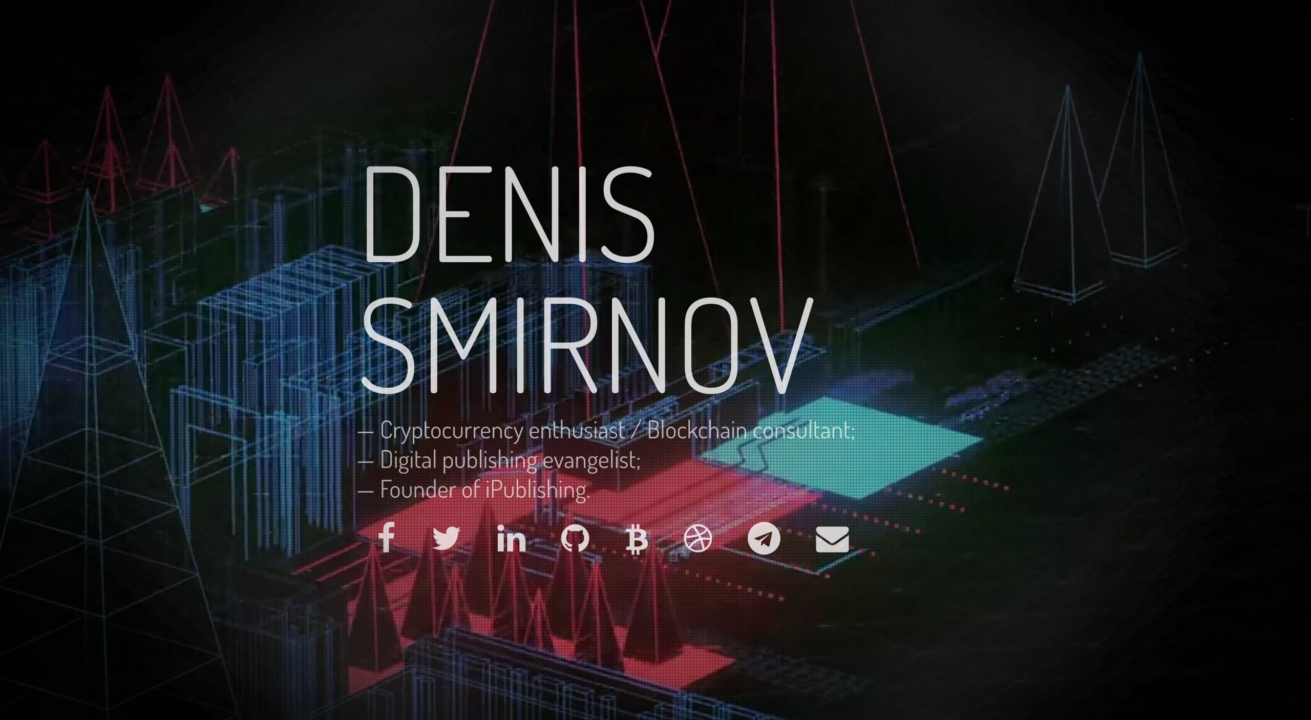 Denis Smirnov Website Screenshot