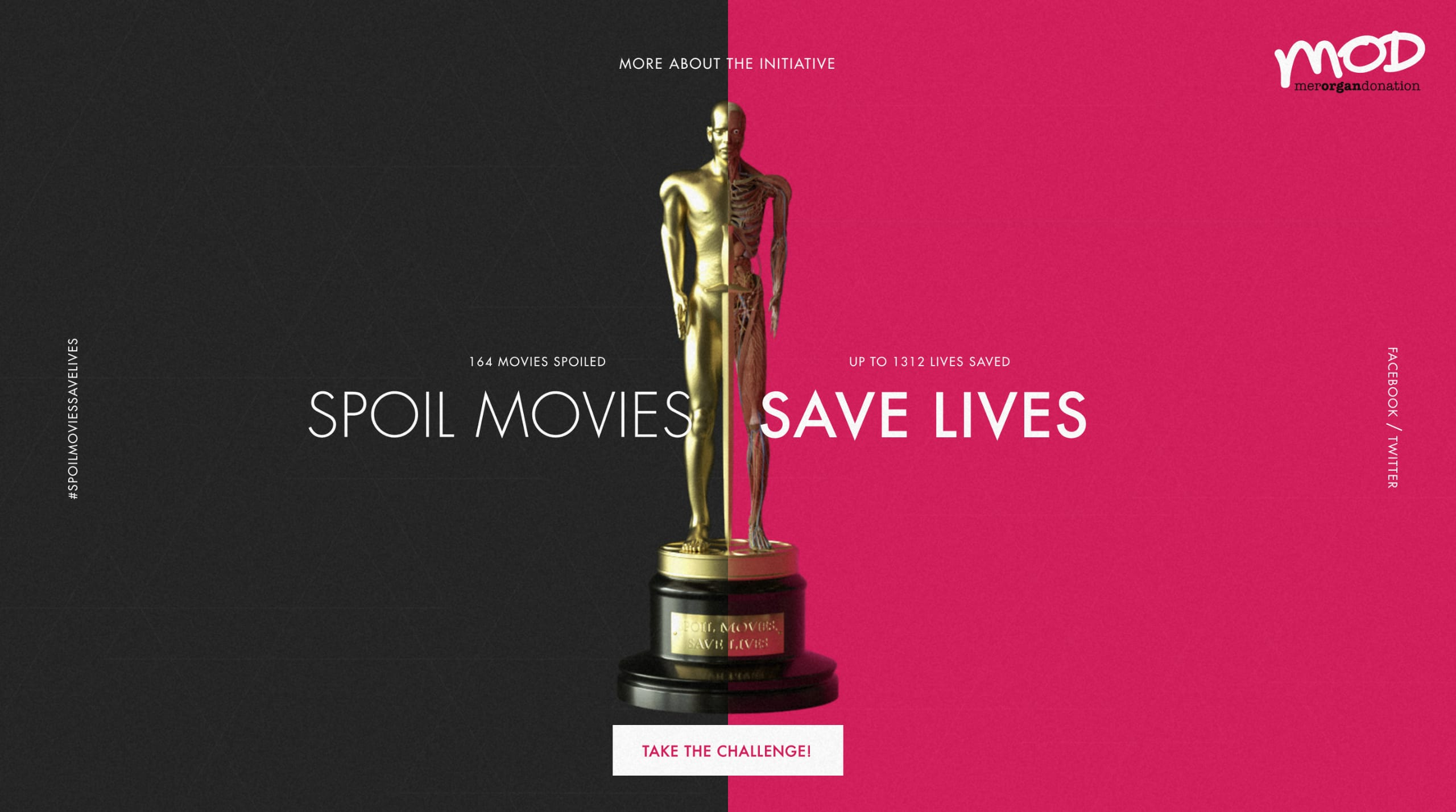 Spoil Movies, Save Lives Website Screenshot