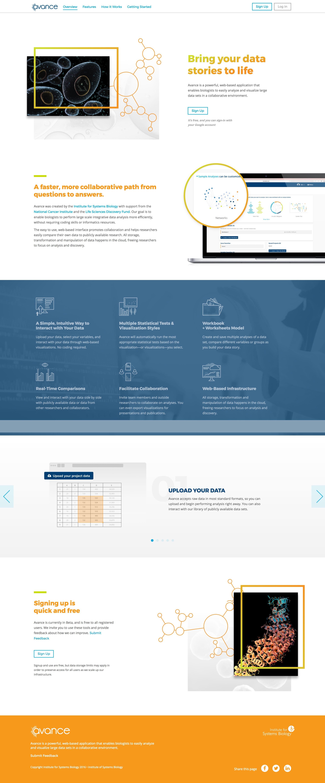 Avance Website Screenshot