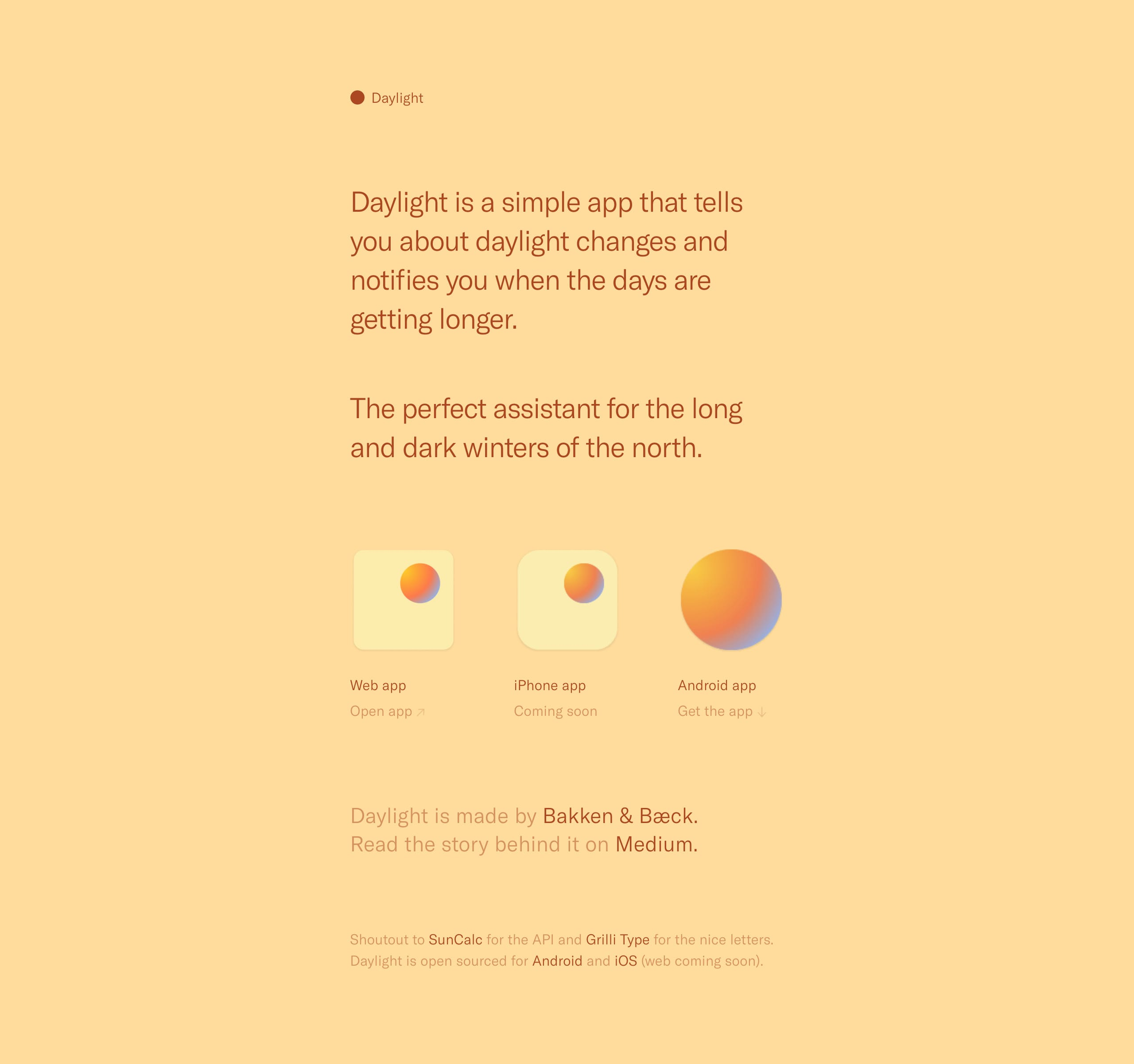 Daylight Website Screenshot