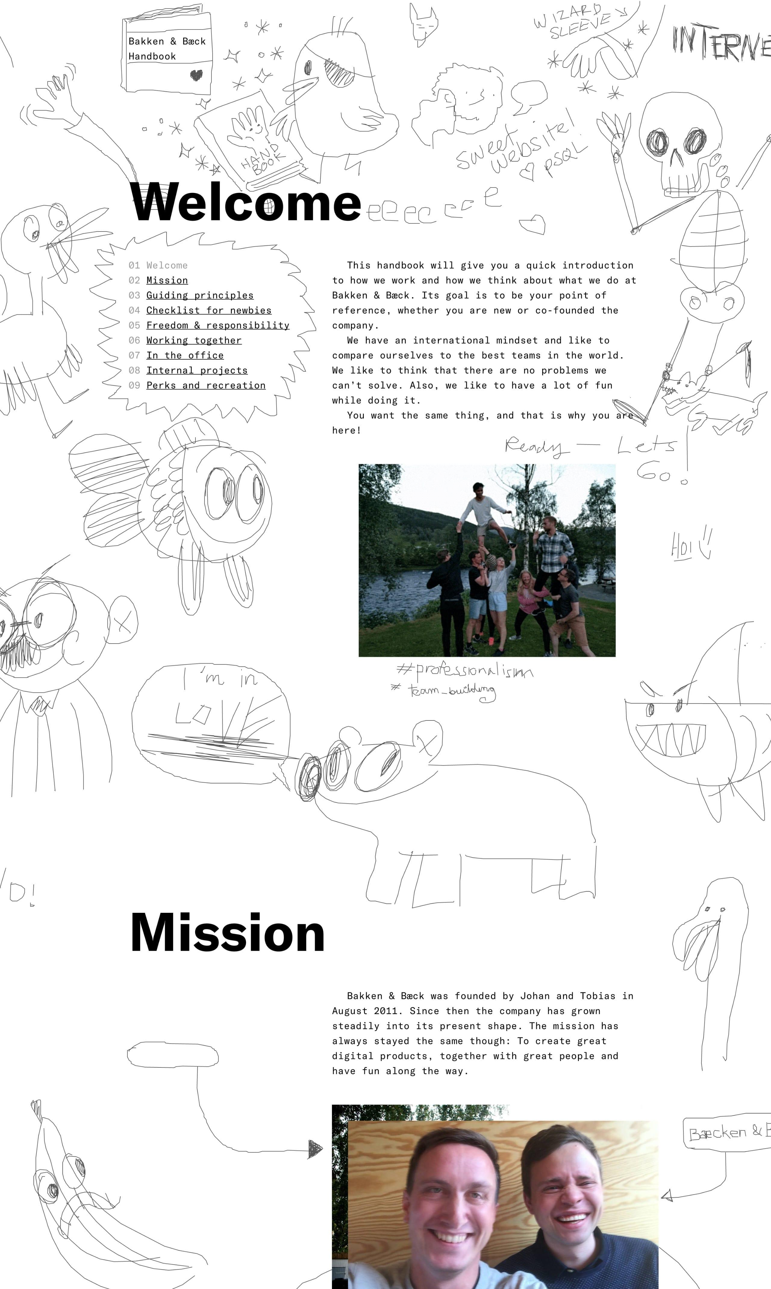 Bakken & Bæck Handbook Website Screenshot