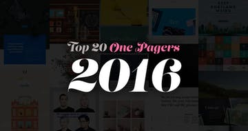 The Top 20 One Pagers from 2016.