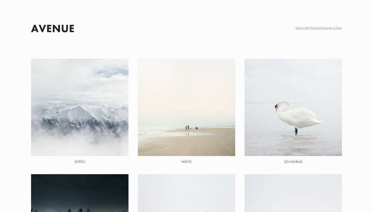 Avenue Squarespace Template Screenshot