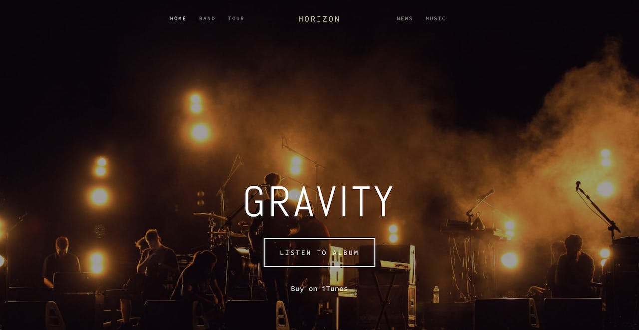 Horizon Squarespace Template Screenshot