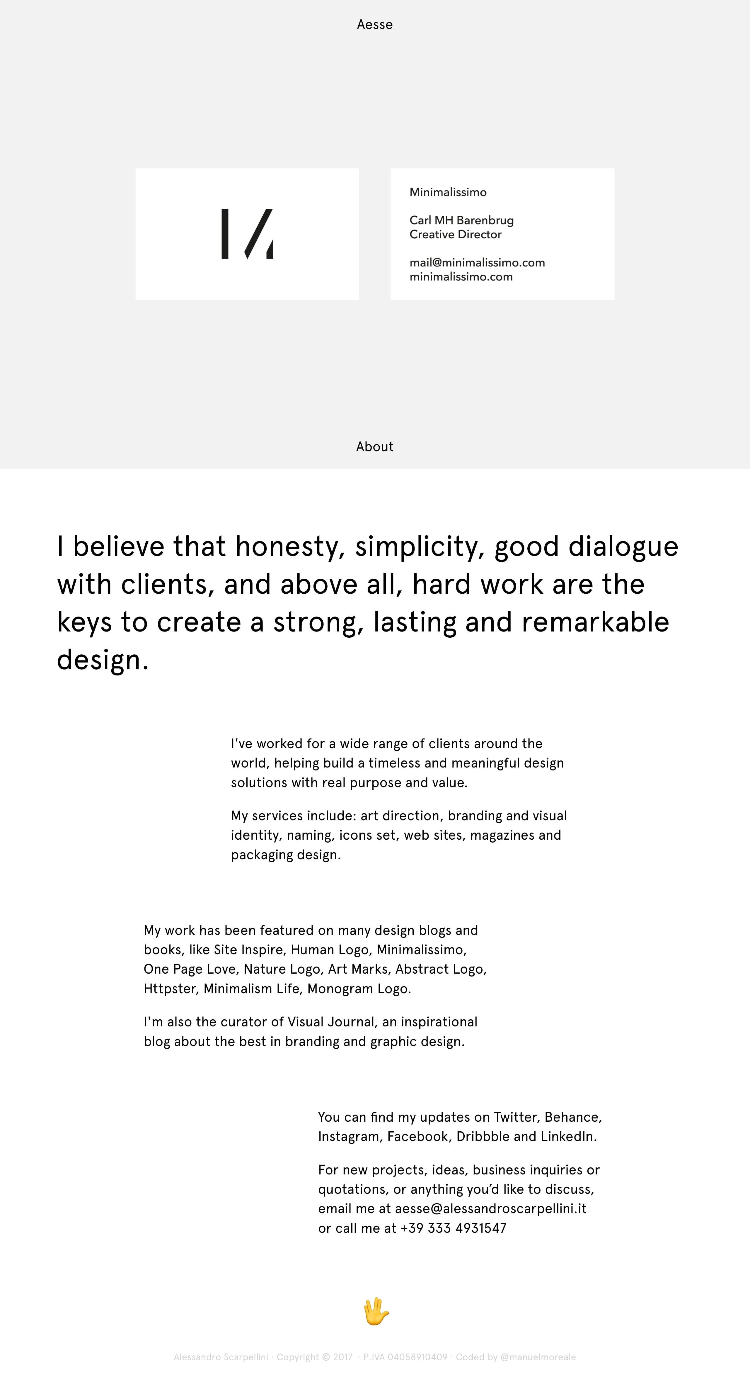 Alessandro Scarpellini Website Screenshot