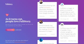 FullStory – Wall of Love Thumbnail Preview