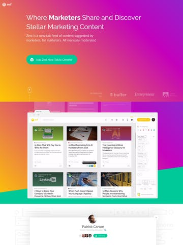 VanillaJS One Page Websites
