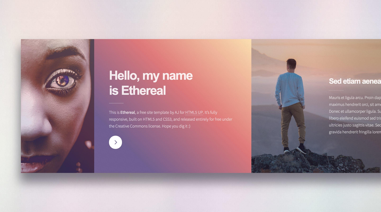 Ethereal Website Screenshot