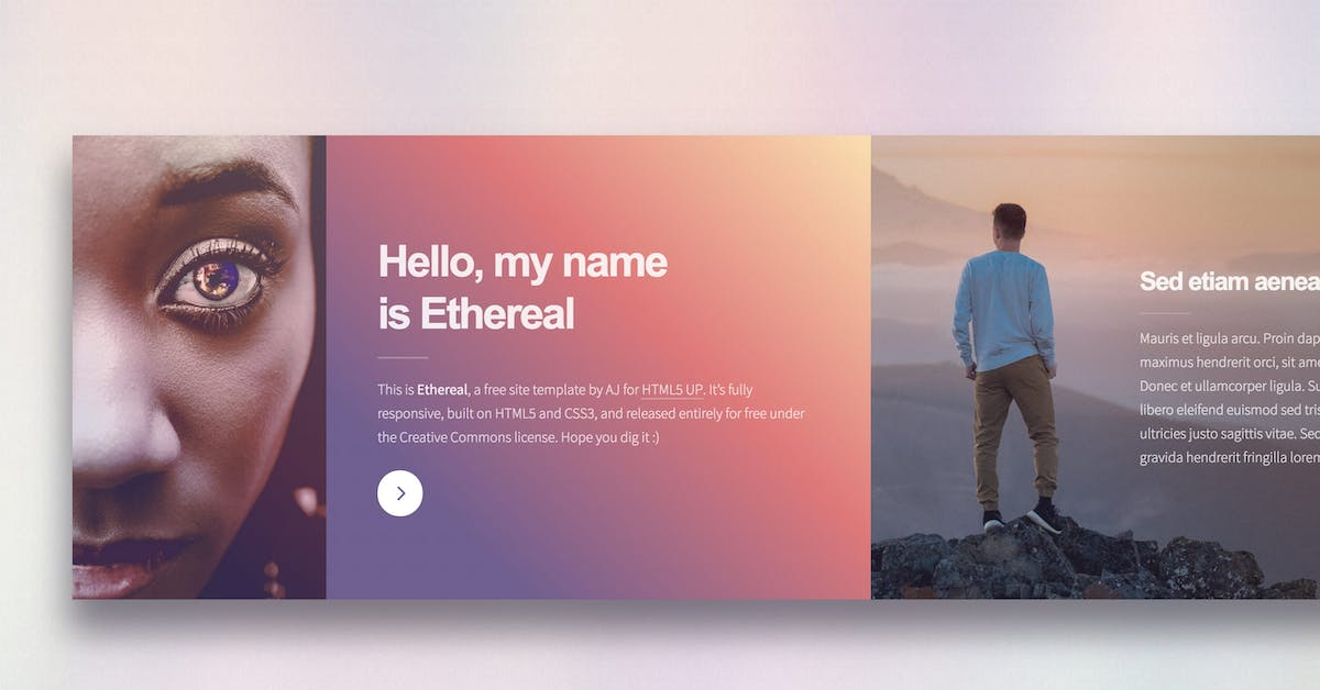 Ethereal - Free HTML Template Review, Demo and Download