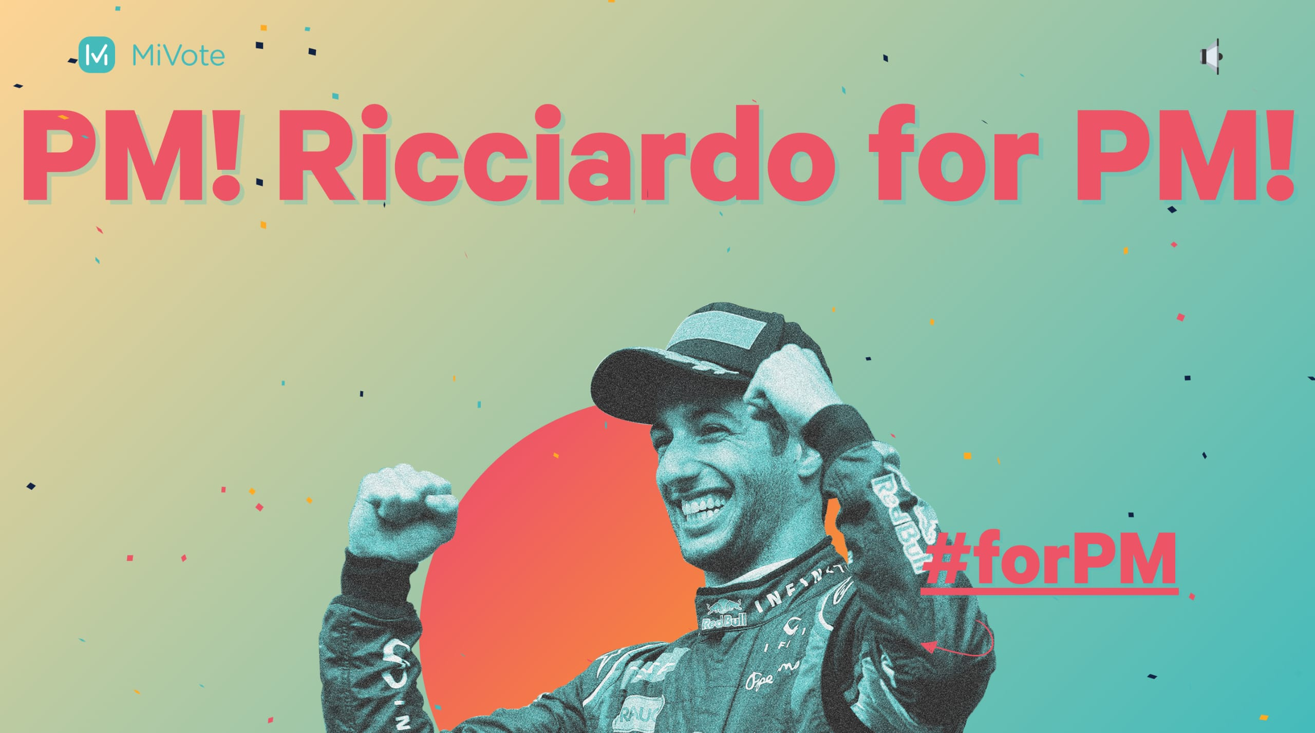 Ricciardo for PM Website Screenshot