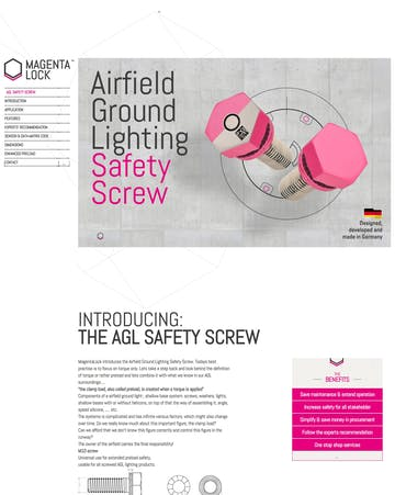 Airfield Ground Lighting Safety Screw Thumbnail Preview
