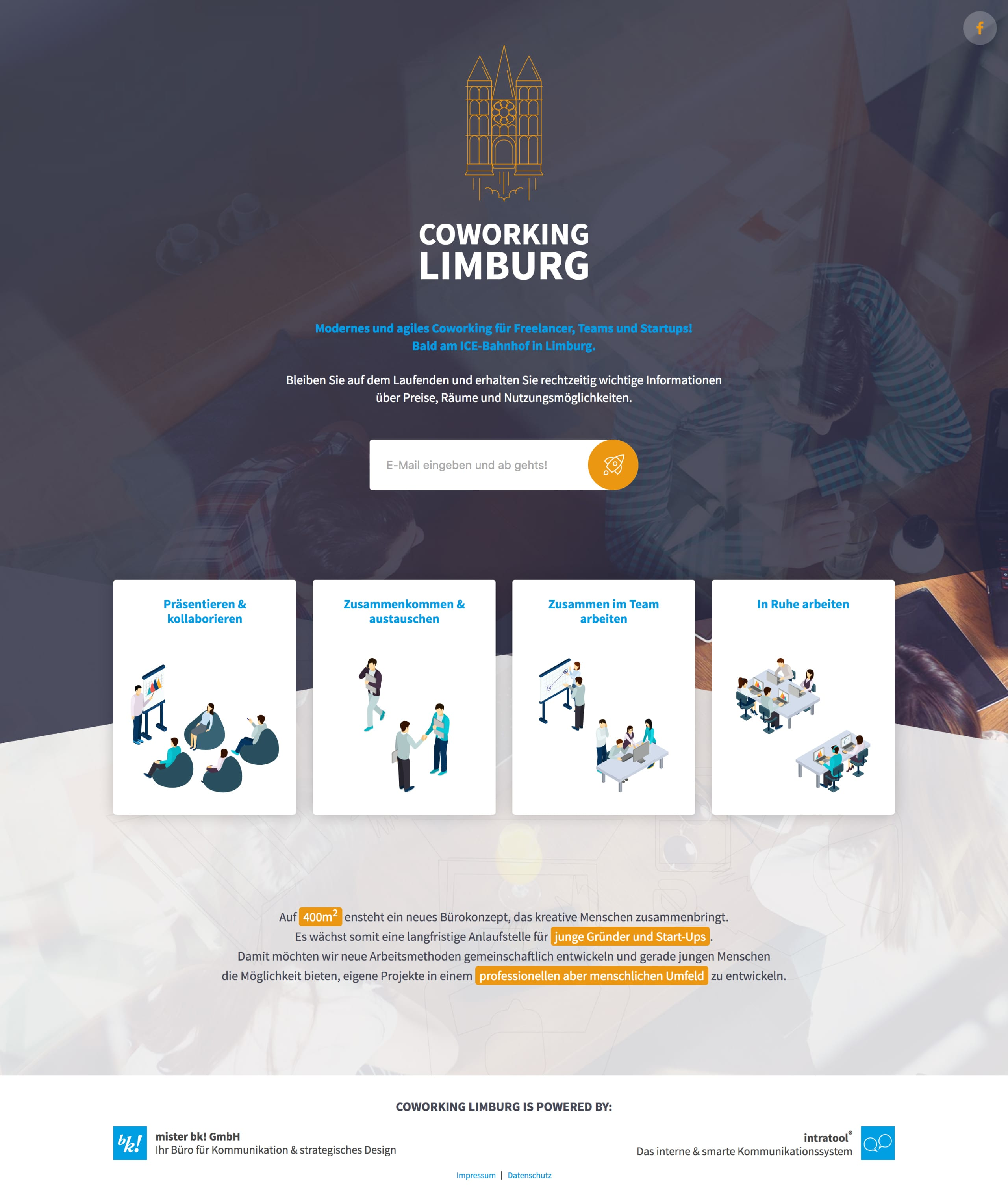 Coworking Limburg Website Screenshot
