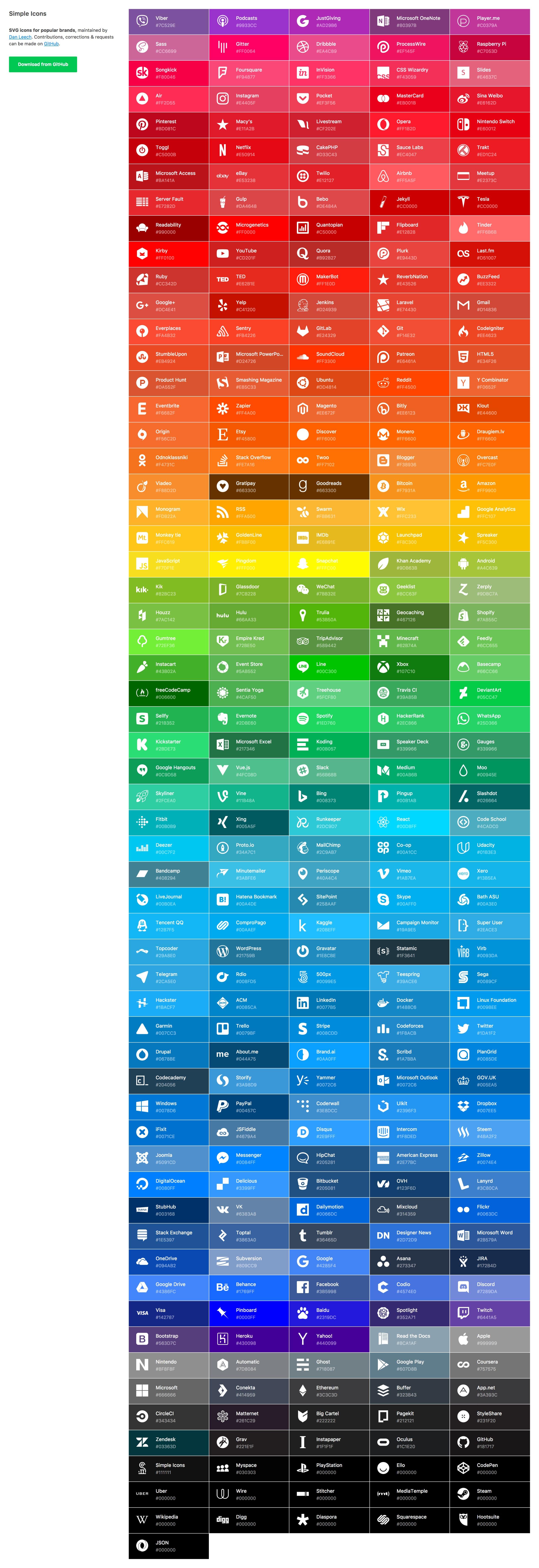 Simple Icons Website Screenshot