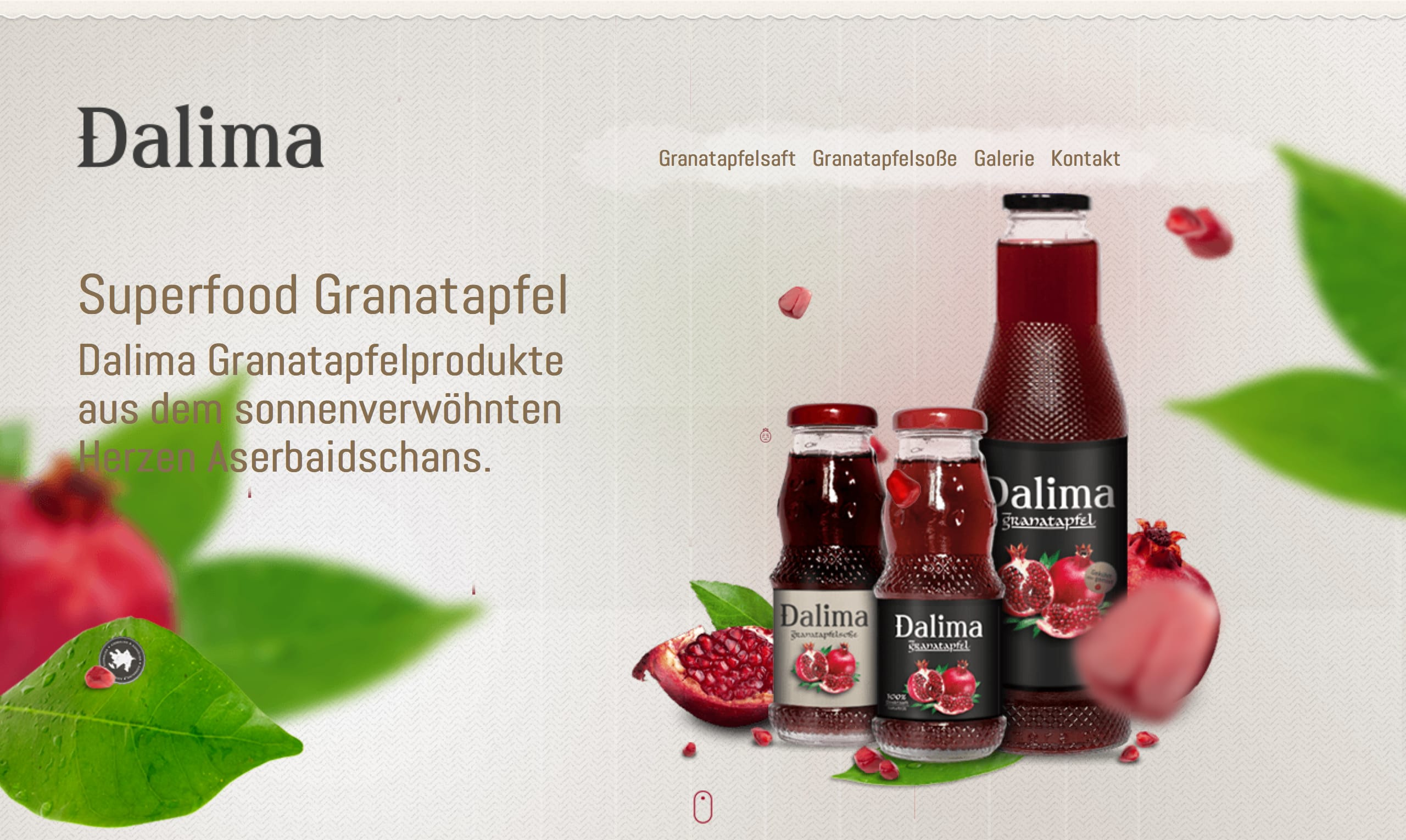 Dalima – Pomegranate Website Screenshot