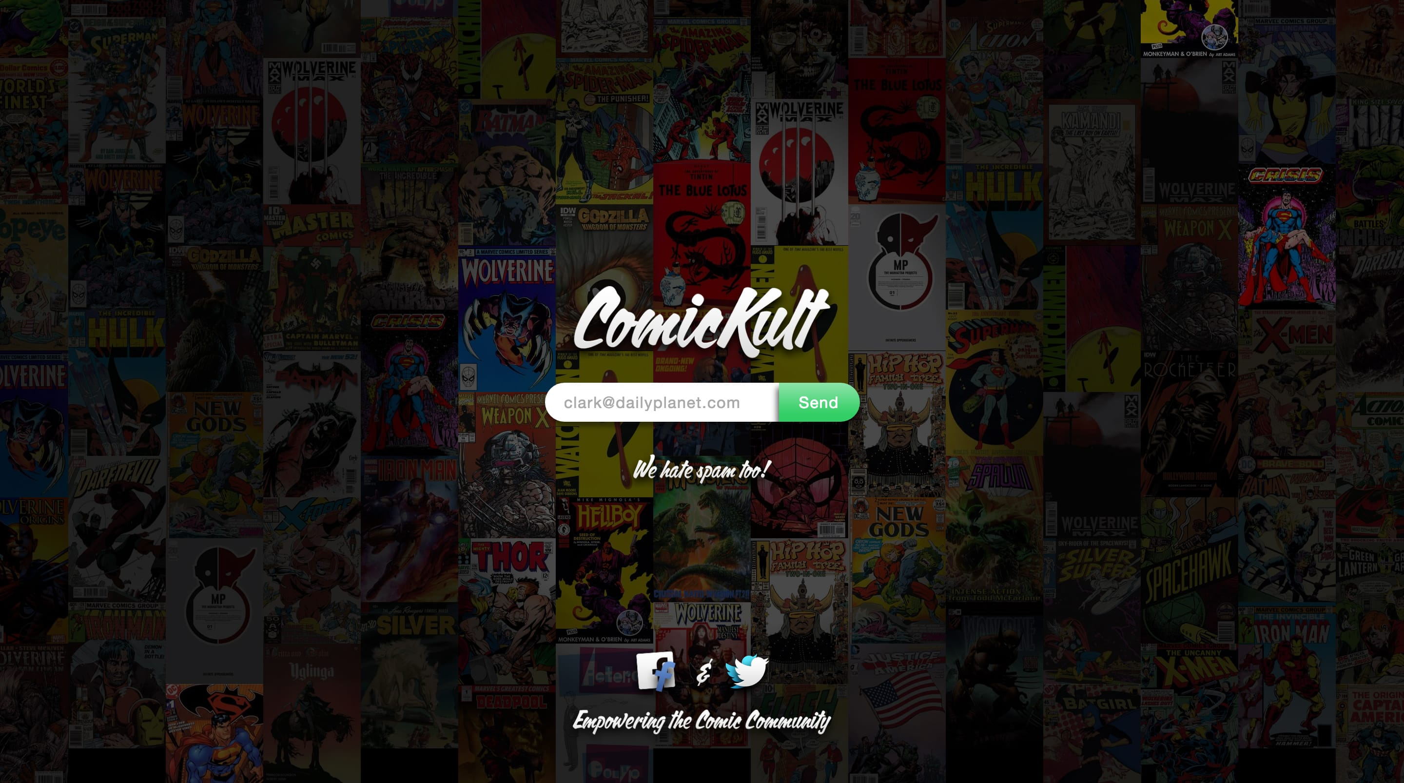 ComicKult Website Screenshot