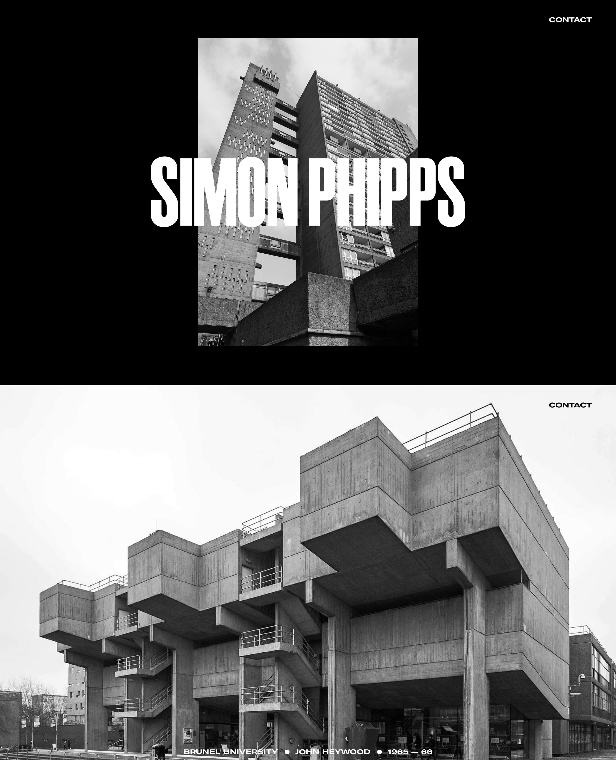 Simon Phipps Website Screenshot