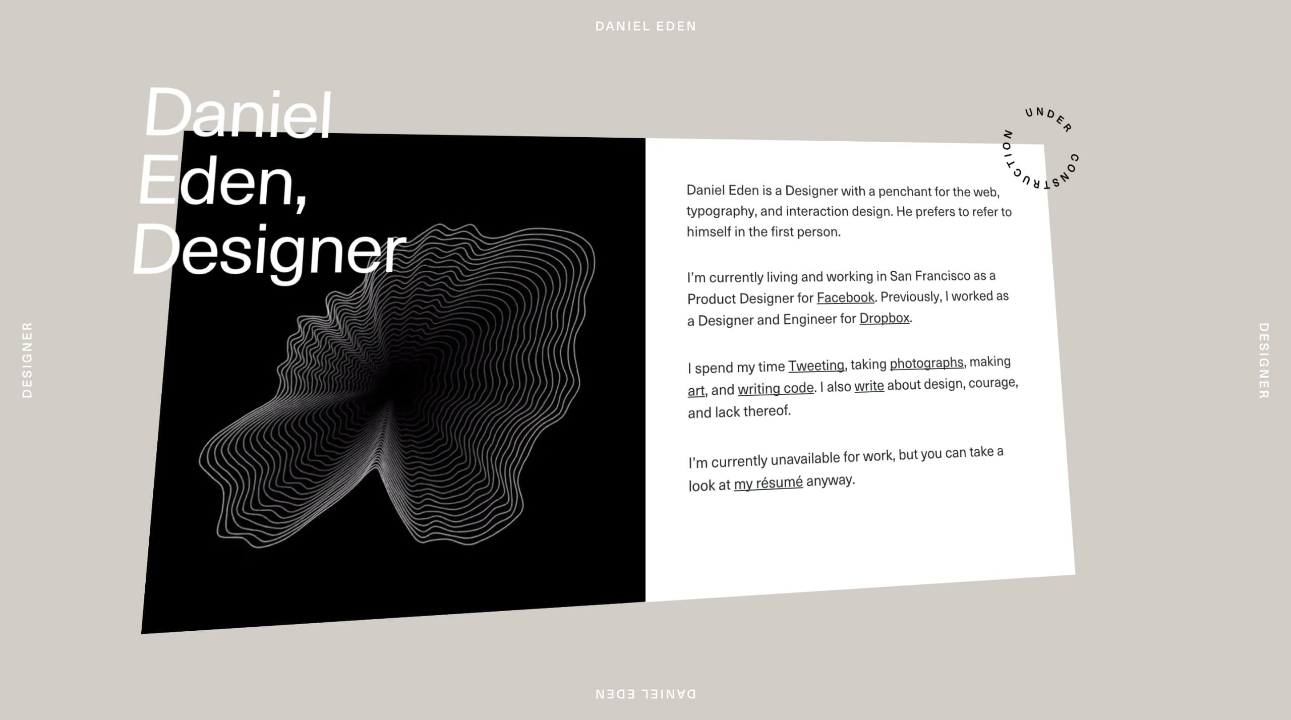 Daniel Eden Website Screenshot