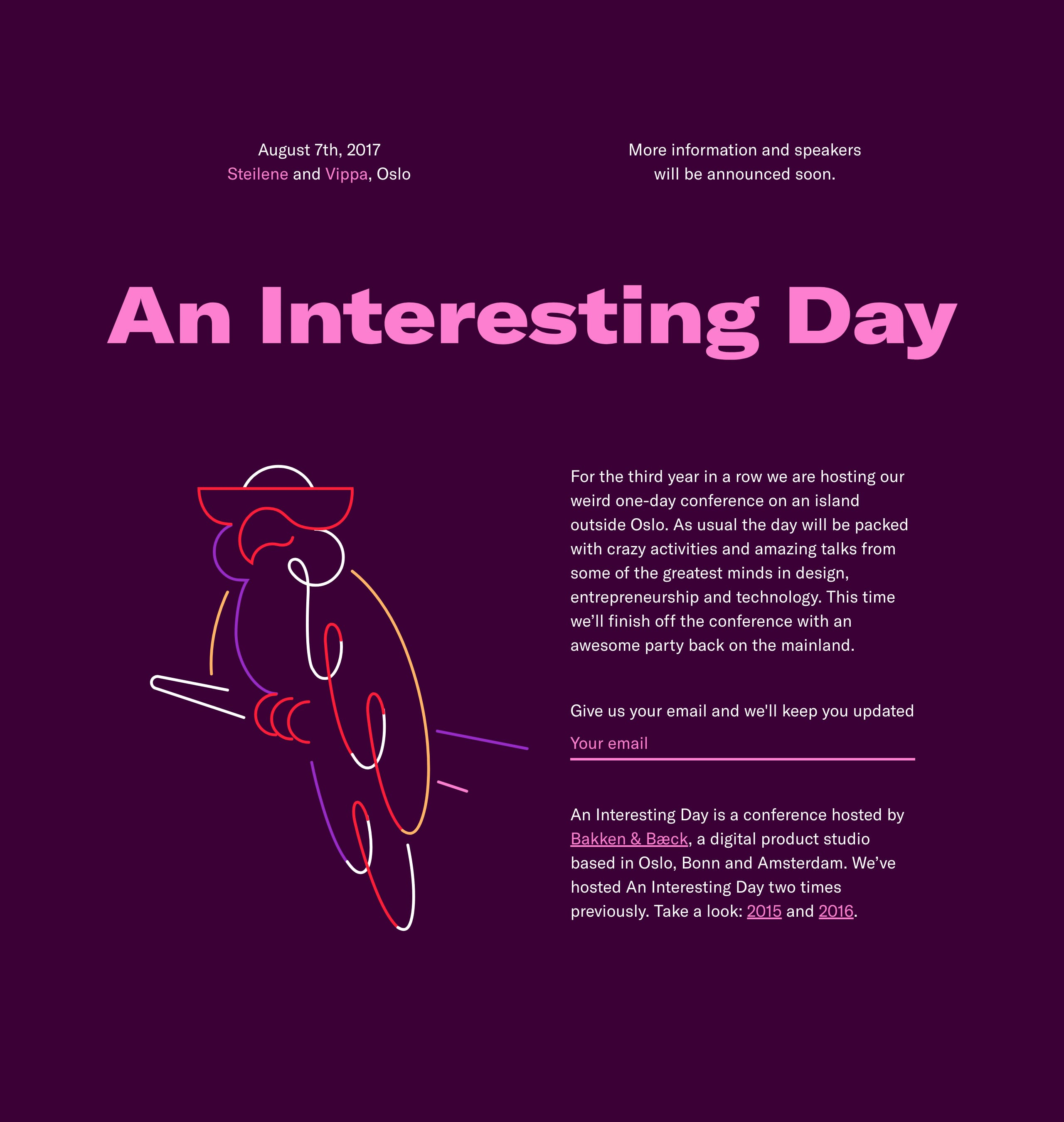 An Interesting Day Website Screenshot